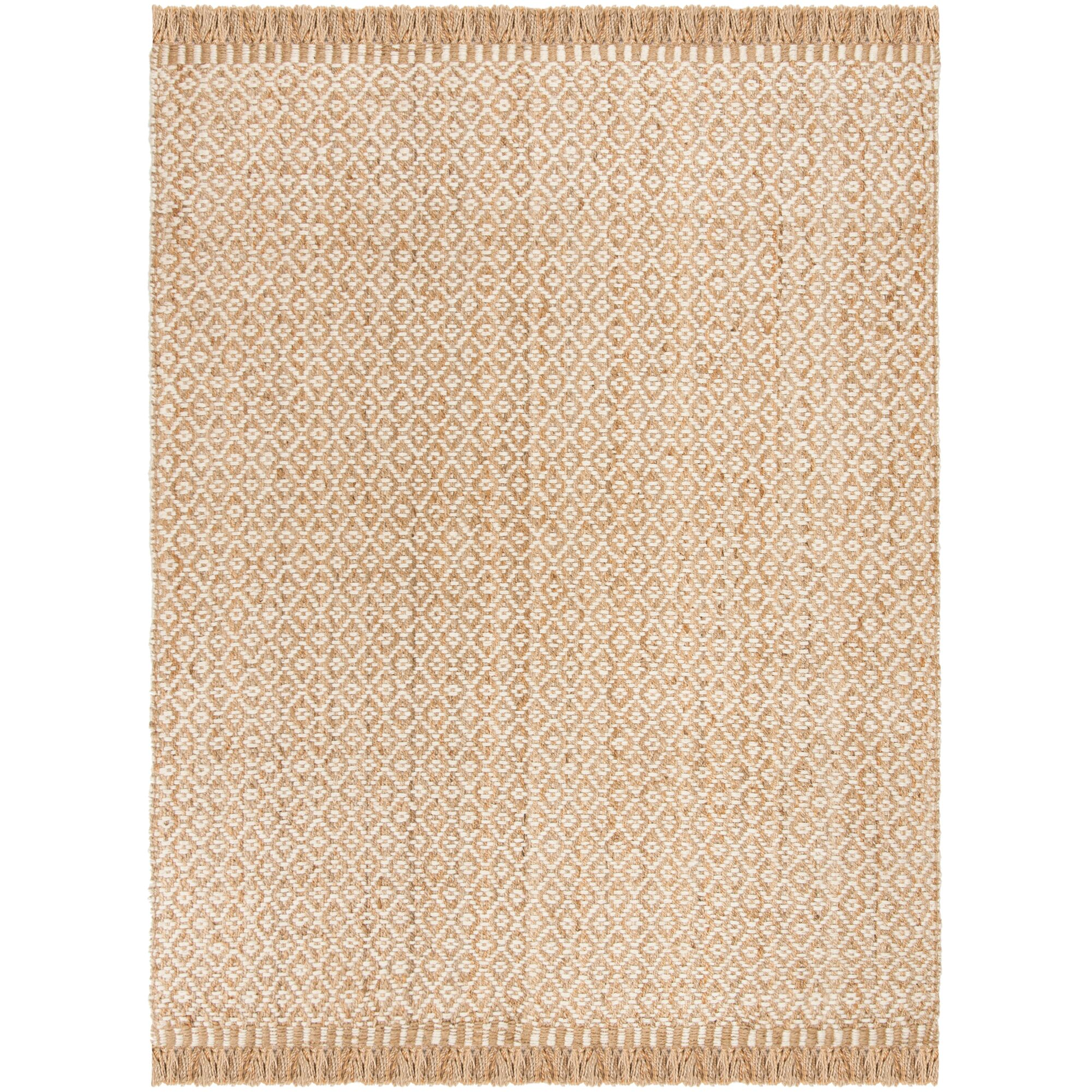 Nicholson Fiber Hand-Woven Natural/Ivory Area Rug Rug Size: Rectangle 8' x 10'