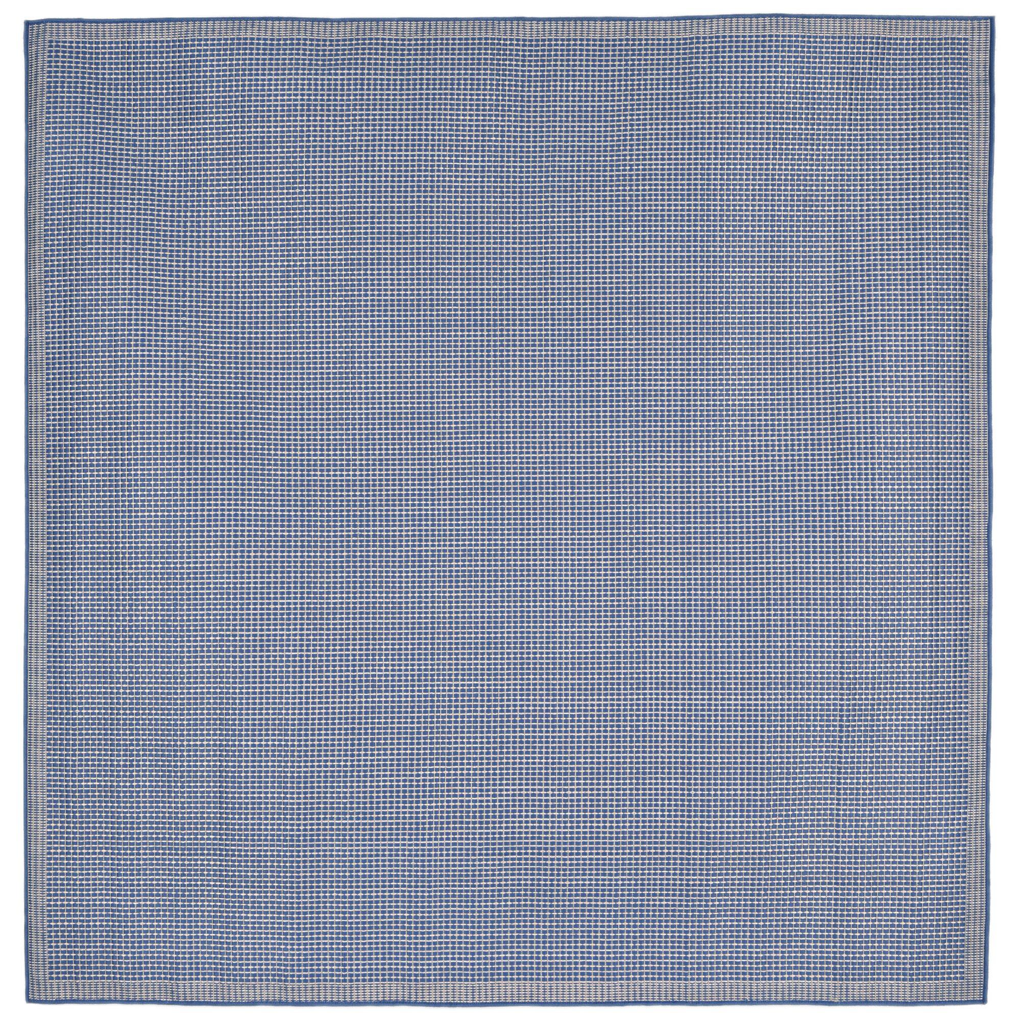 Clatterbuck Texture Blue Indoor/Outdoor Area Rug Rug Size: Square 7'10