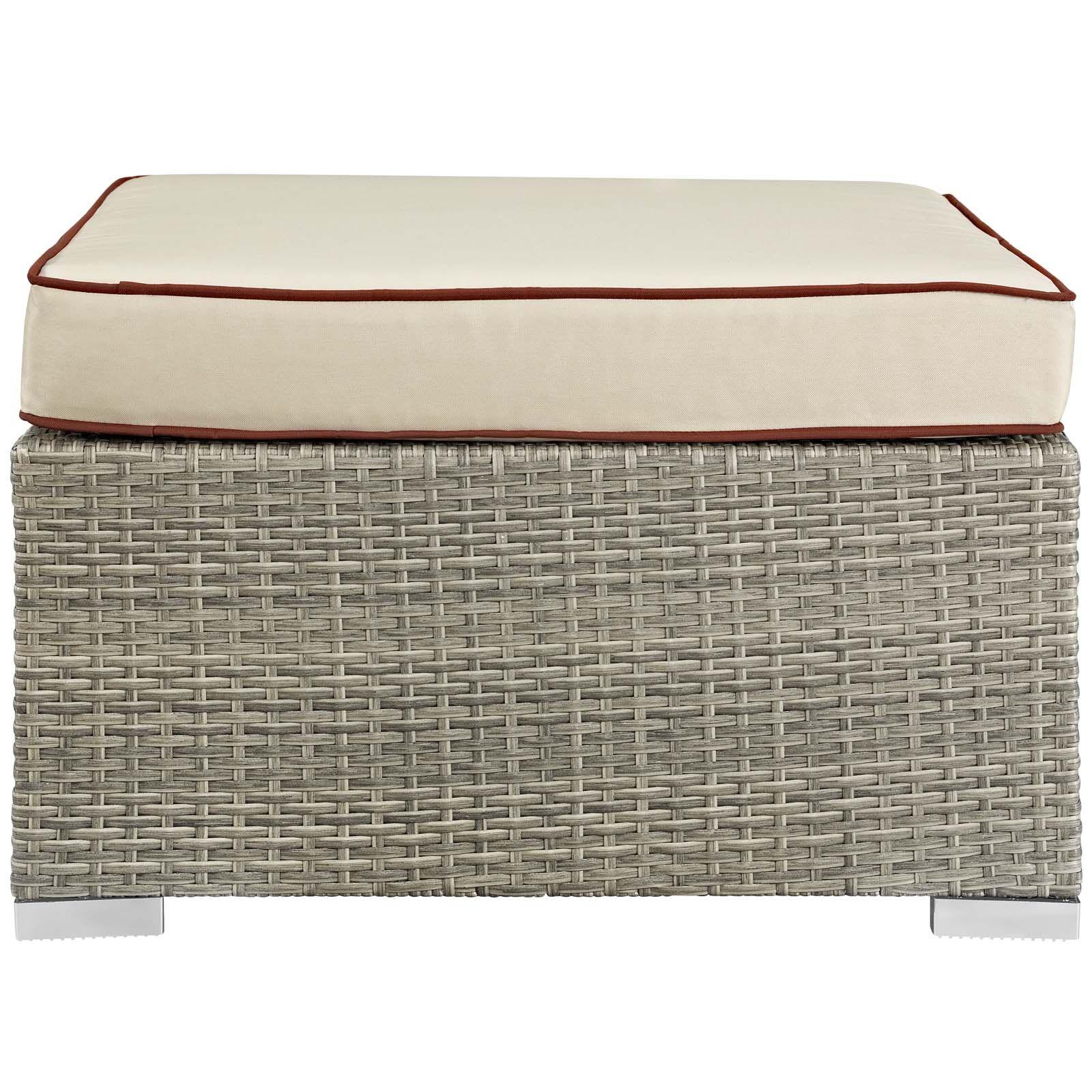 Heinrich Ottoman with Cushion Fabric: Beige
