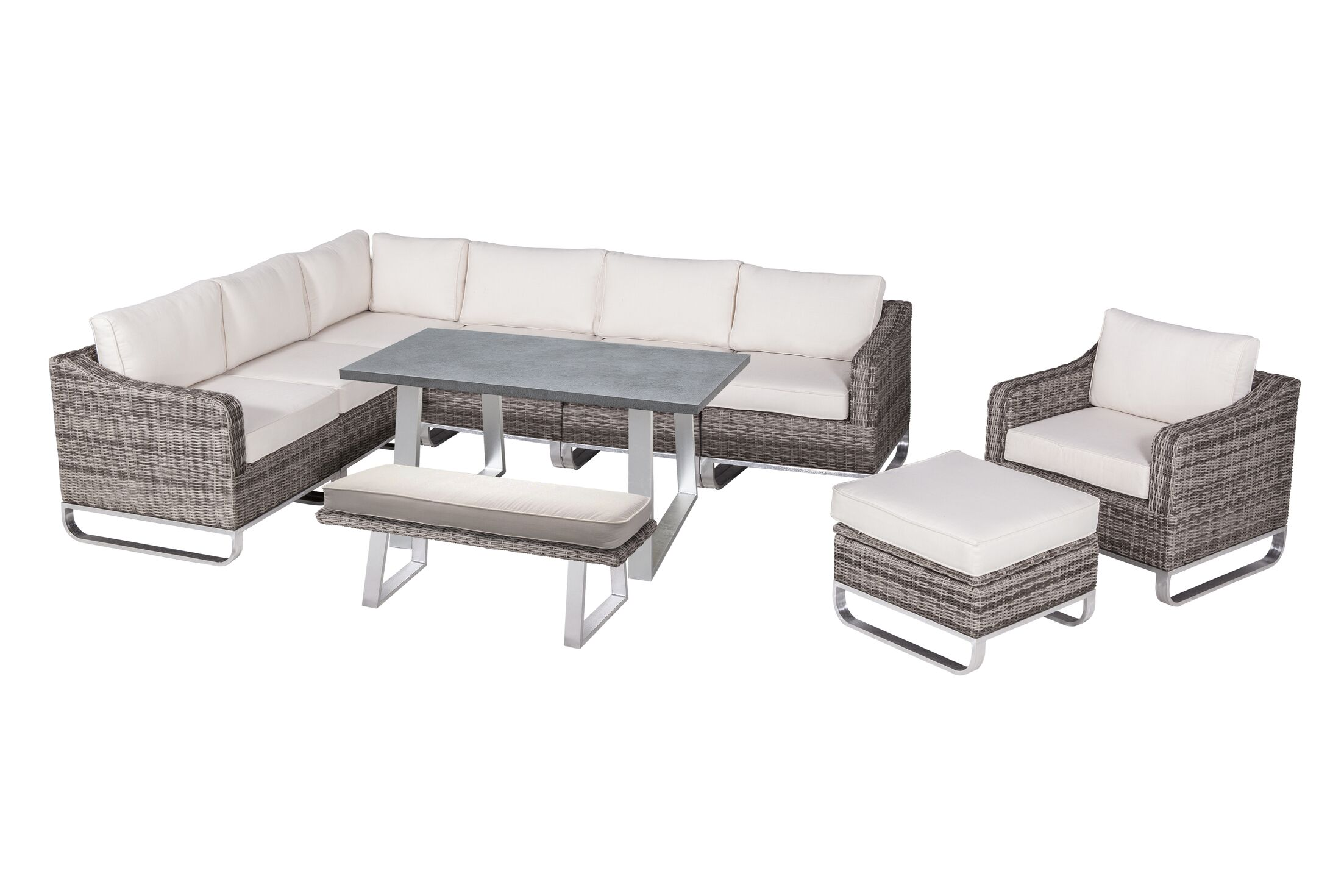 Hollaway 10 Piece Sectional Set with Cushions