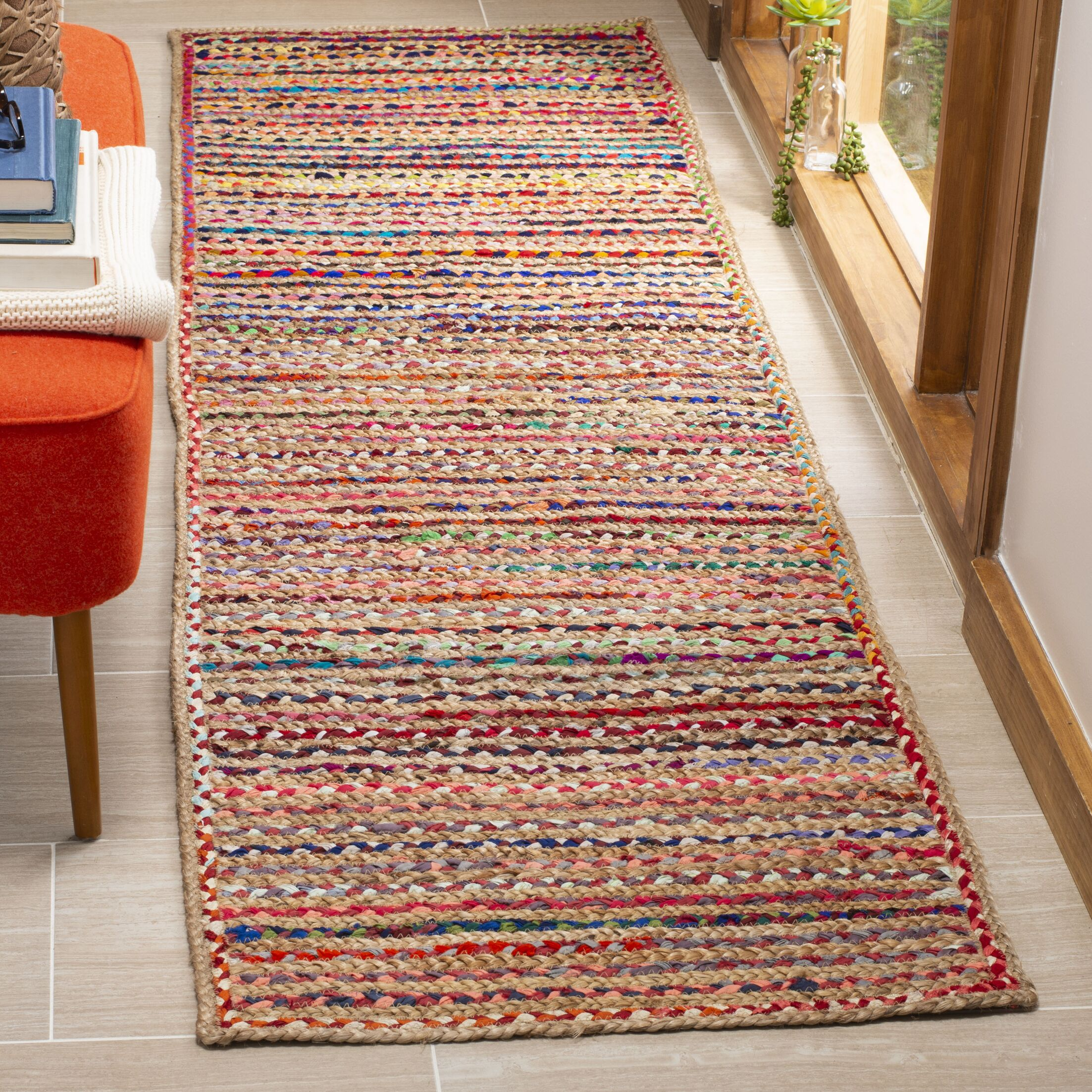 Arria Hand-Woven Natural Area Rug Rug Size: Runner 2'3