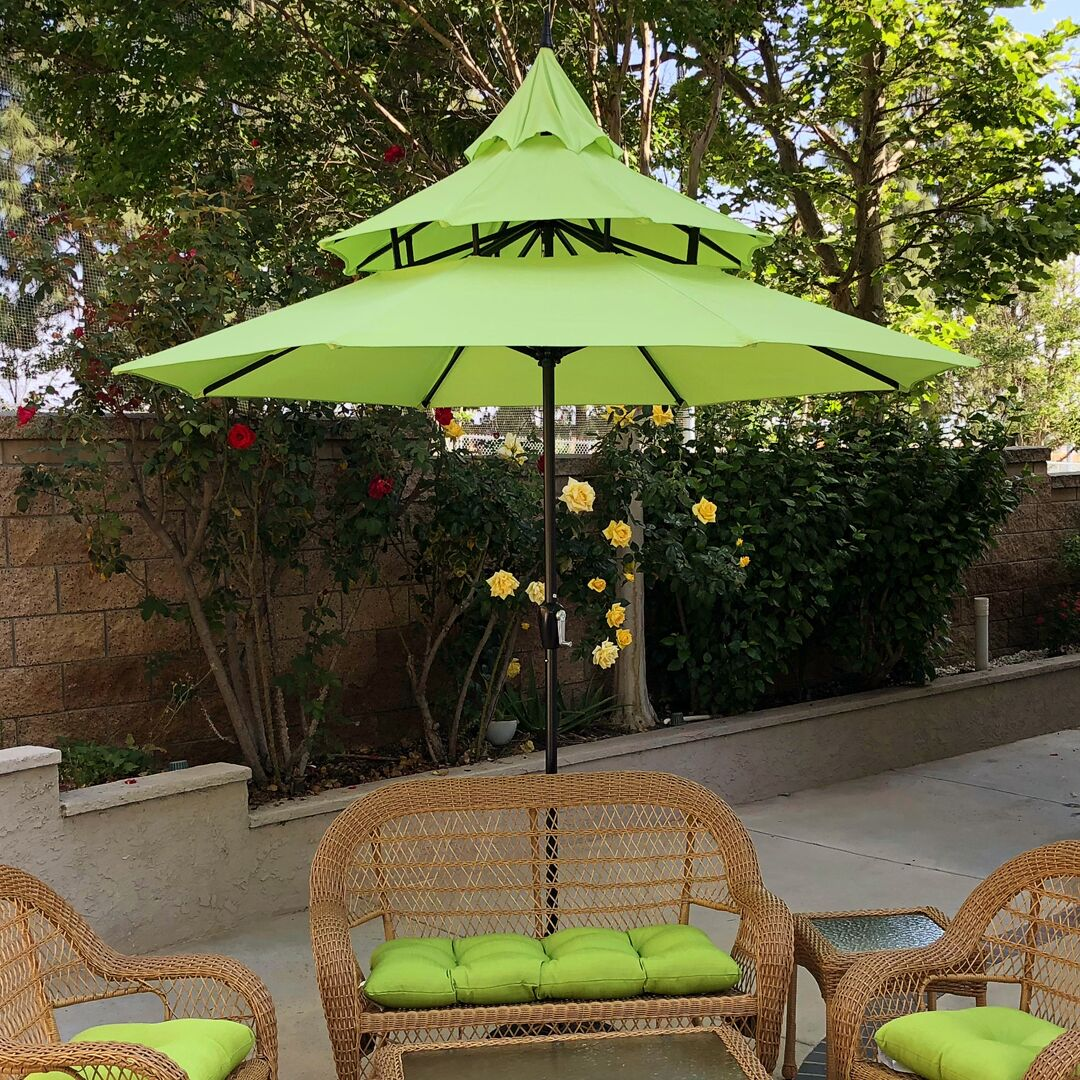 Bookout 9' Market Umbrella Fabric Color: Lime Green
