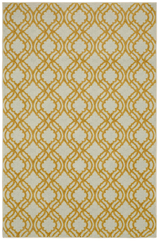 Sammons Crème/Yellow Area Rug Rug Size: Rectangle 5' x 8'