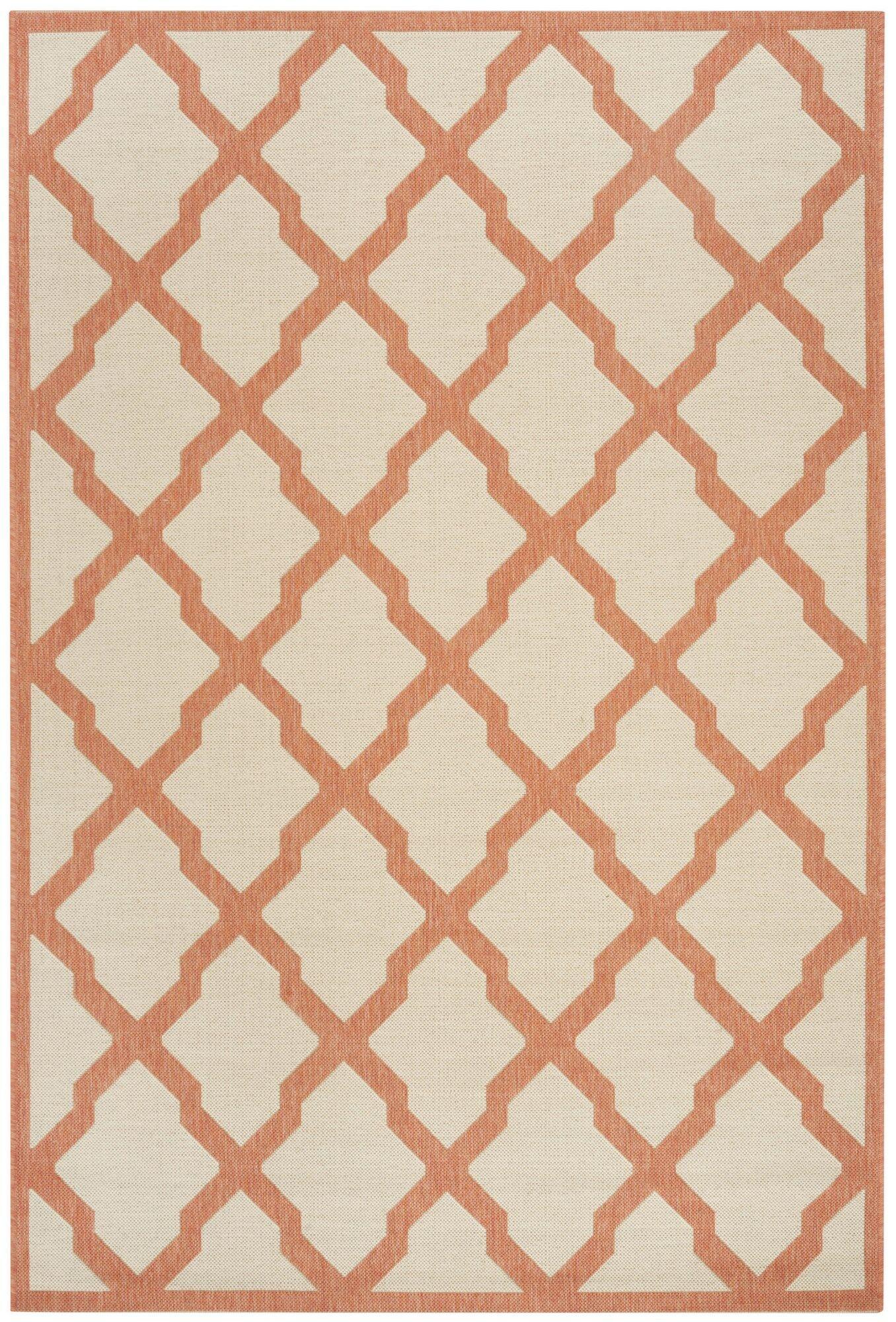 Cashion Cream/Rust Area Rug Rug Size: Rectangle 8' x 10'