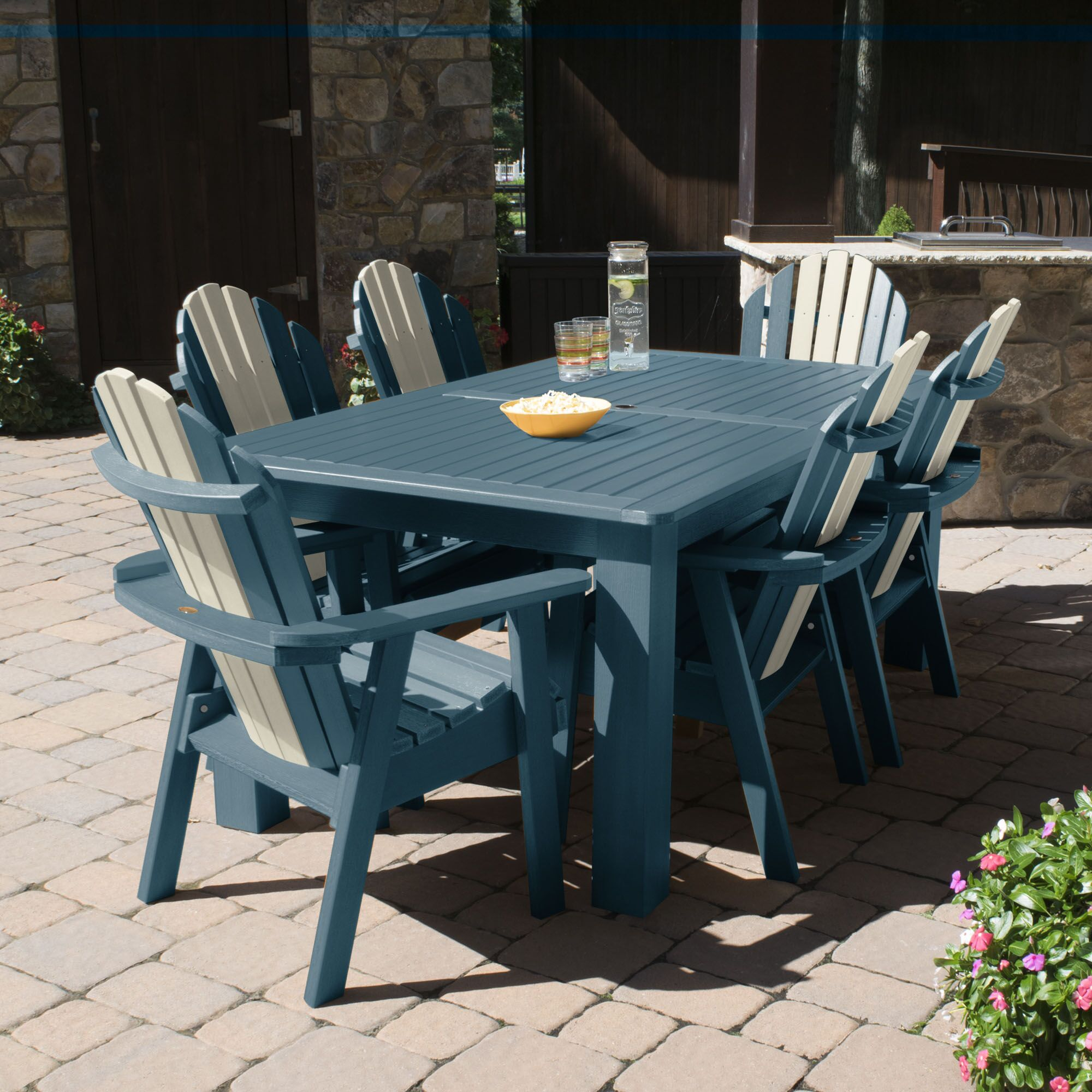 Camacho 7 Piece Dining Set Color: Odyssy, Table Top Size: 40.5'' H x 84'' W x 127'' L
