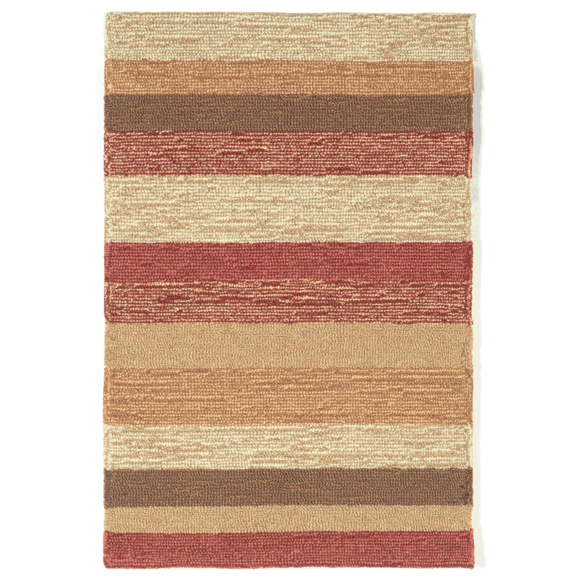 Derby Red Stripe Outdoor Rug Rug Size: Rectangle 7'6