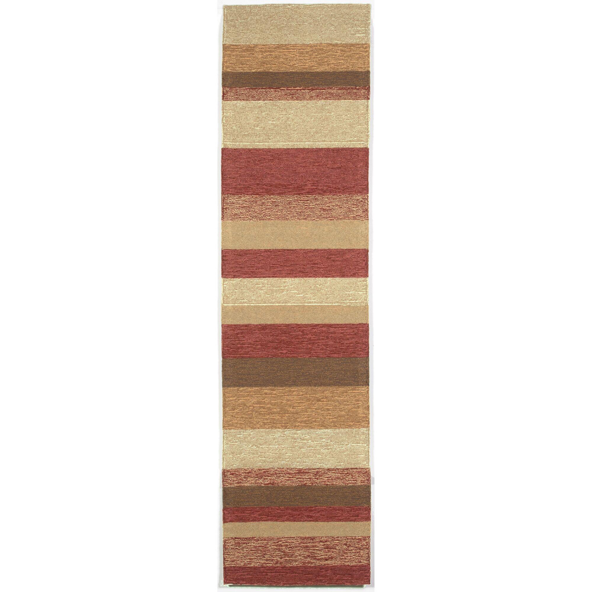 Derby Red Stripe Outdoor Rug Rug Size: Runner 2' x 8'