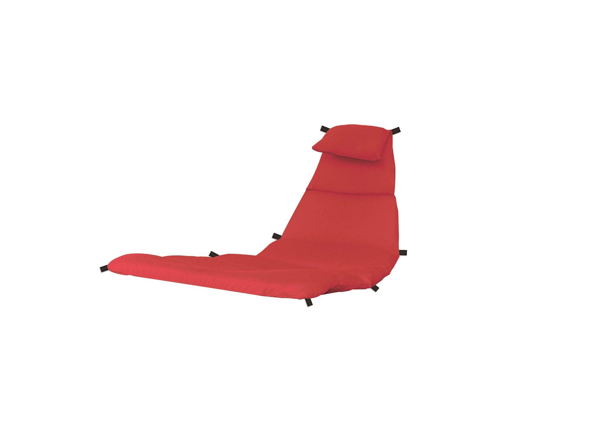 Lounge Chair Cushion Fabric: Cherry Red