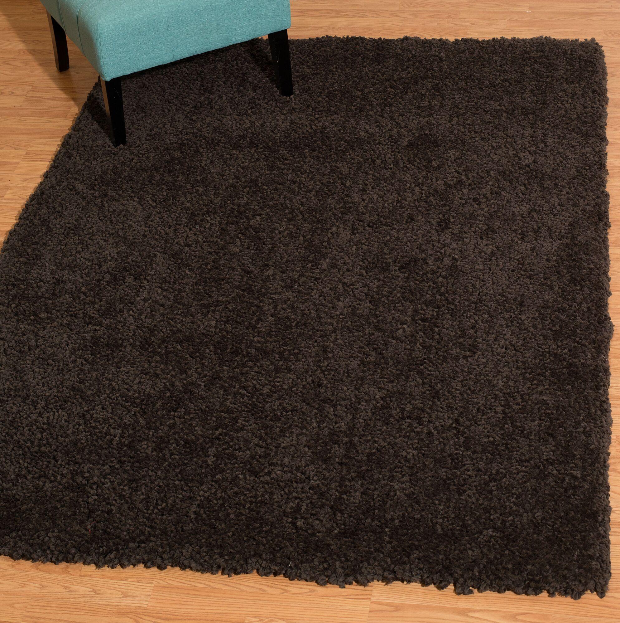 Mullenix Dark Chocolate Area Rug Rug Size: Rectangle 5'3