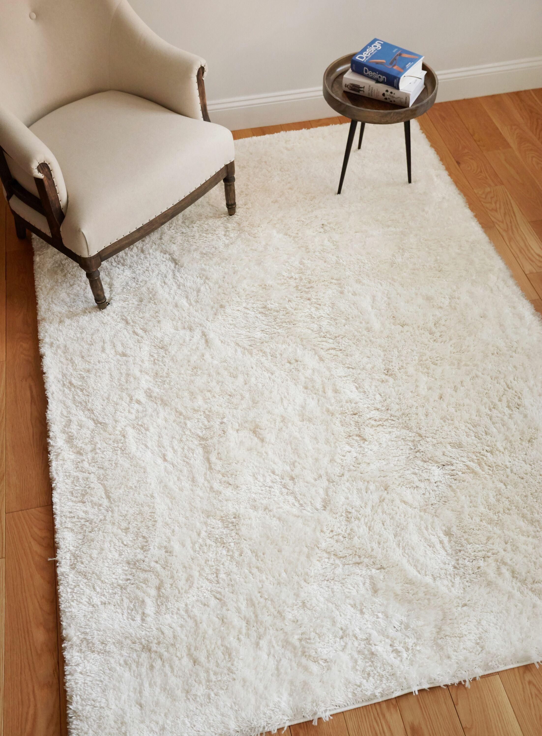 Cervantez Modern Solid Soft Power Loom White Area Rug Rug Size: 7'10