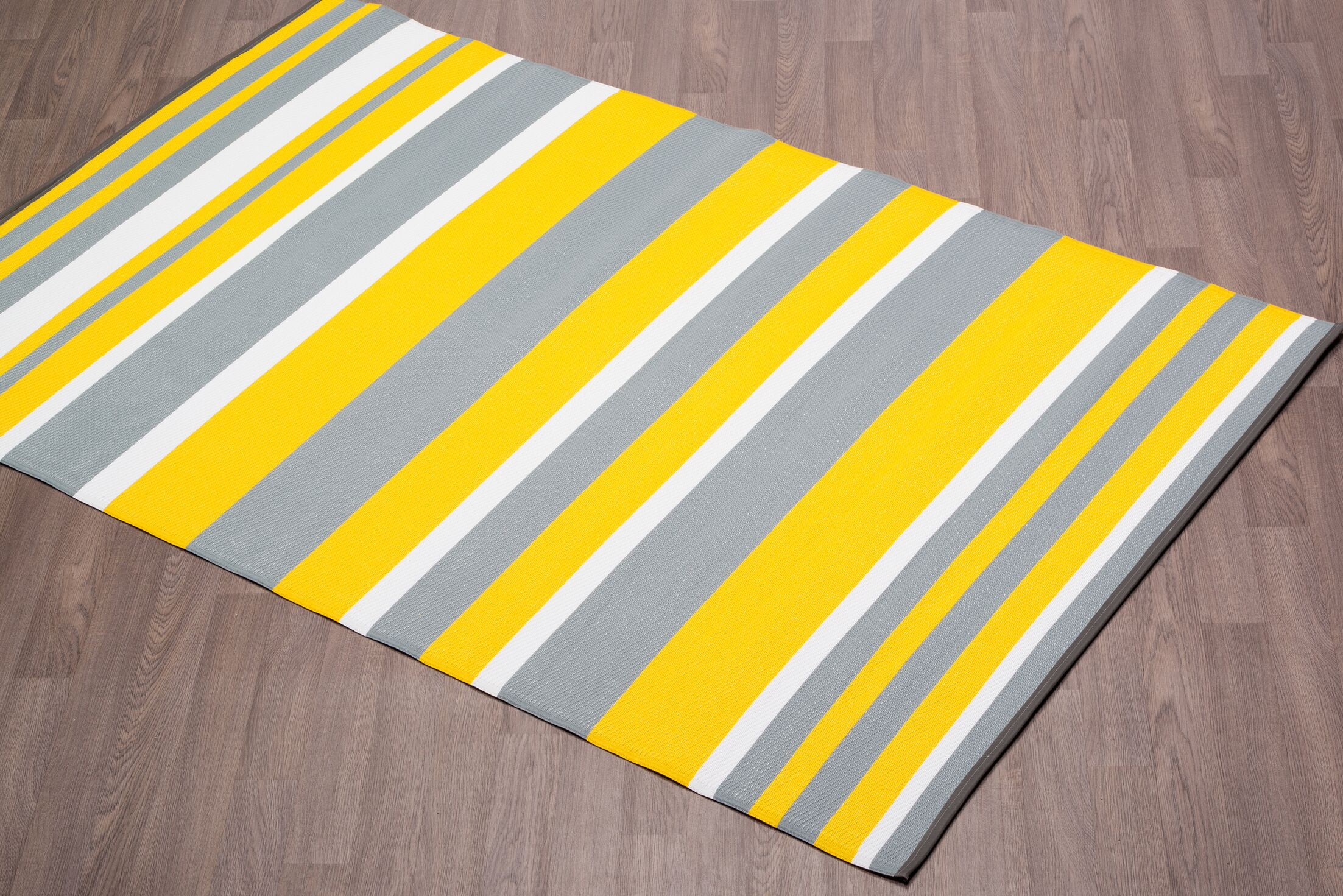 Carroll Stripes Yellow/Gray Indoor/Outdoor Area Rug Rug Size: Rectangle 6' x 9'