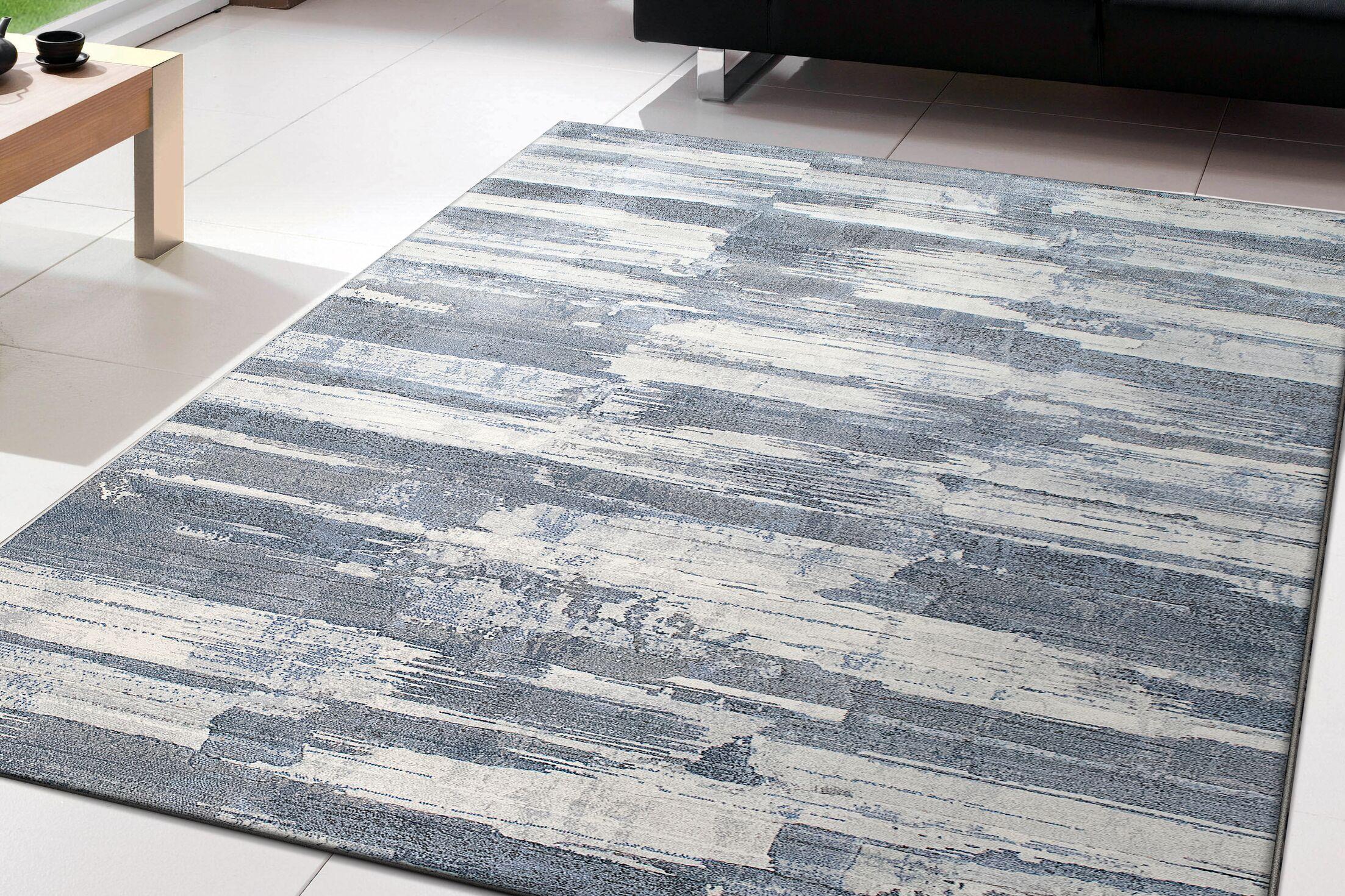 Goyette Blue Area Rug Rug Size: Rectangle 6'7