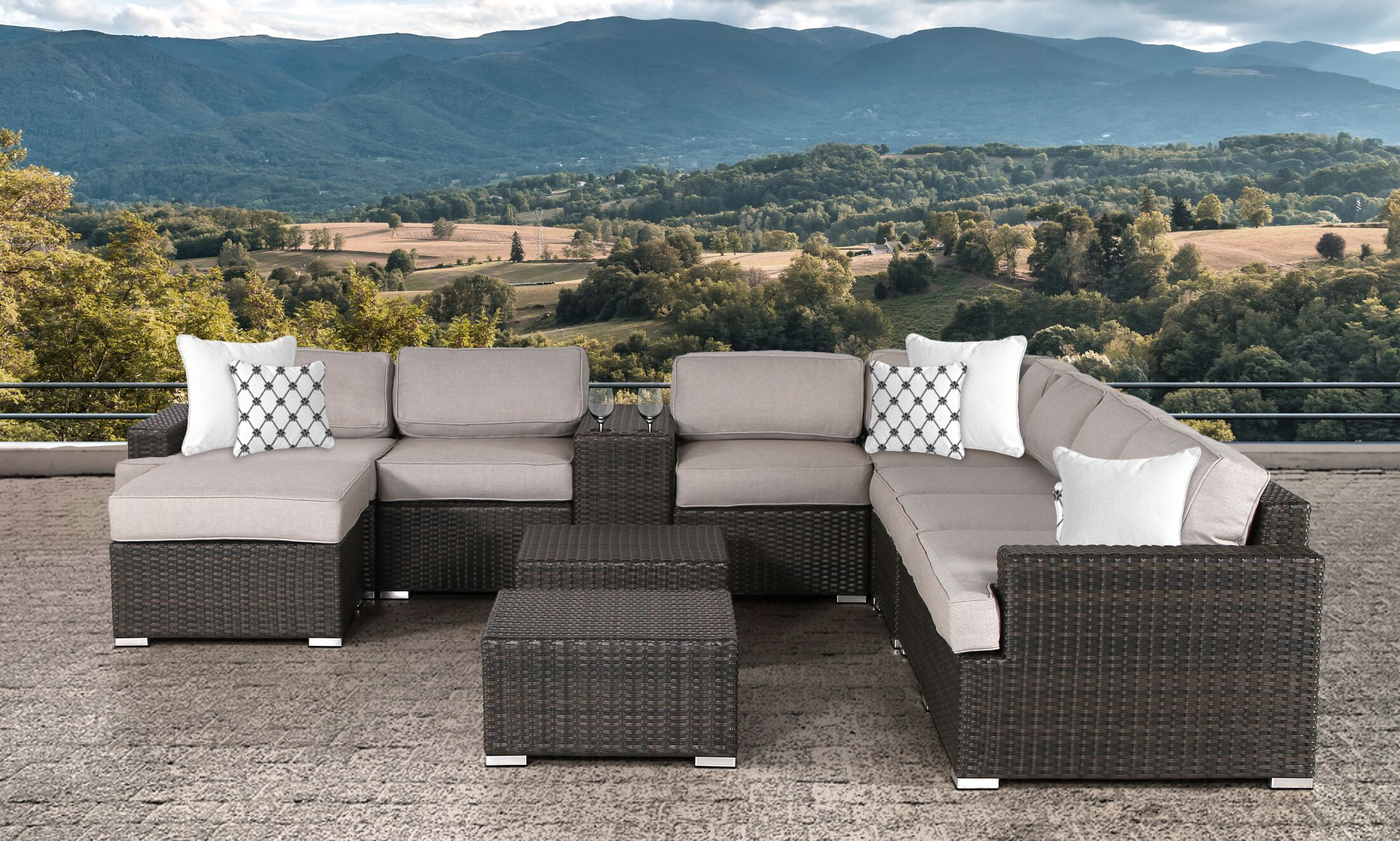Archway 11 Piece Sectional Set with Cushions