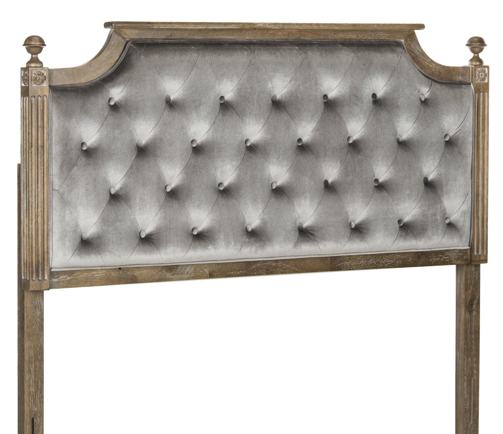 Binne Upholstered Panel Headboard Size: Twin, Color: Beige