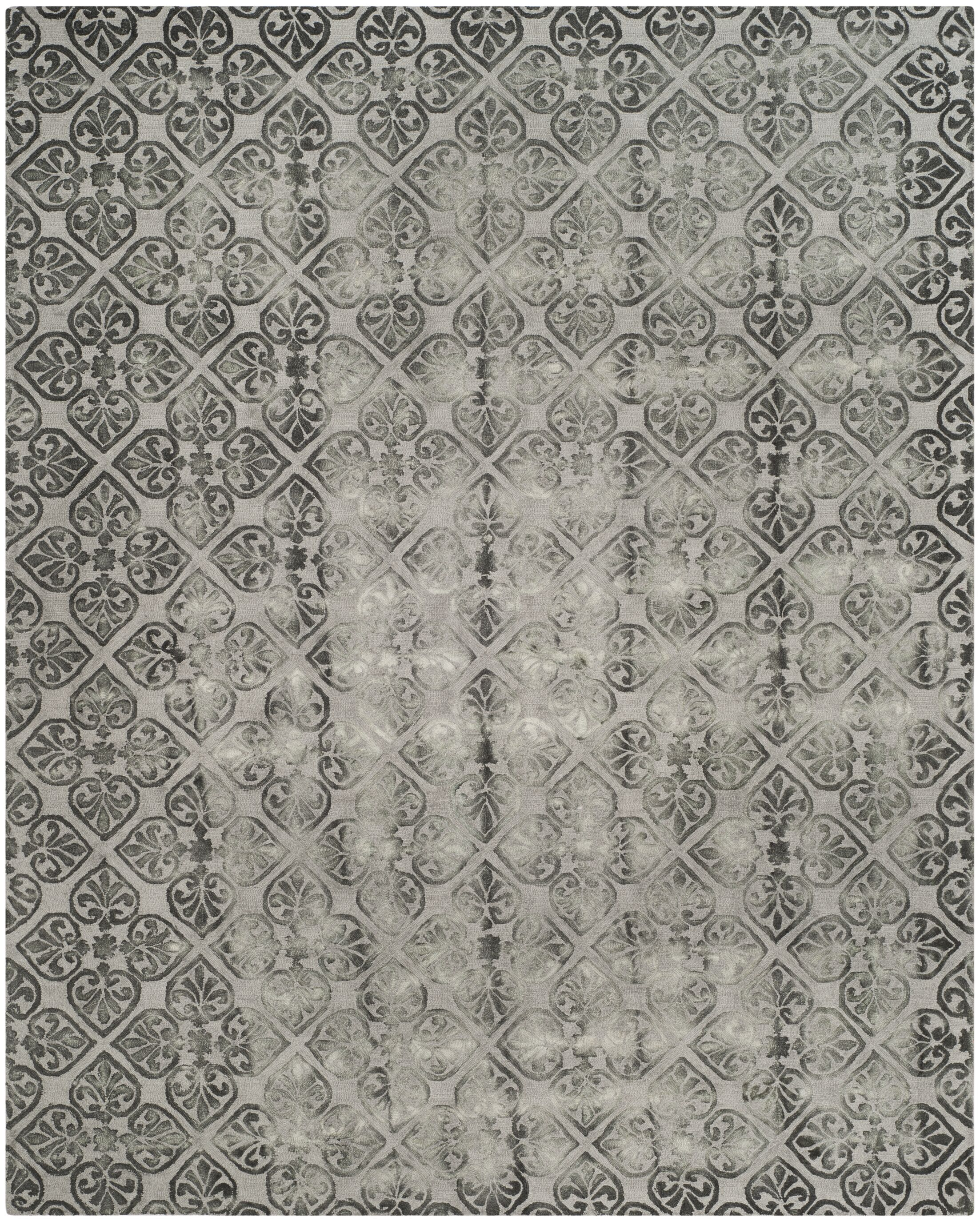 Edmeston Hand-Tufted Gray Wool Area Rug Rug Size: Rectangle 8' x 10'