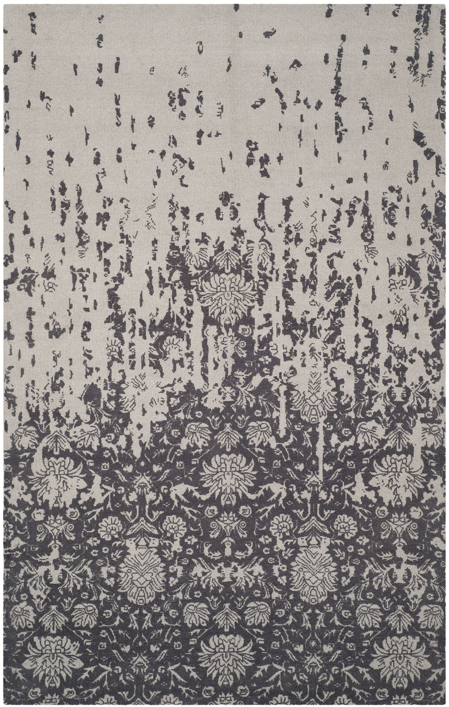 Ellicottville Hand-Tufted Brown/Gray Area Rug Rug Size: Rectangle 5' x 8'