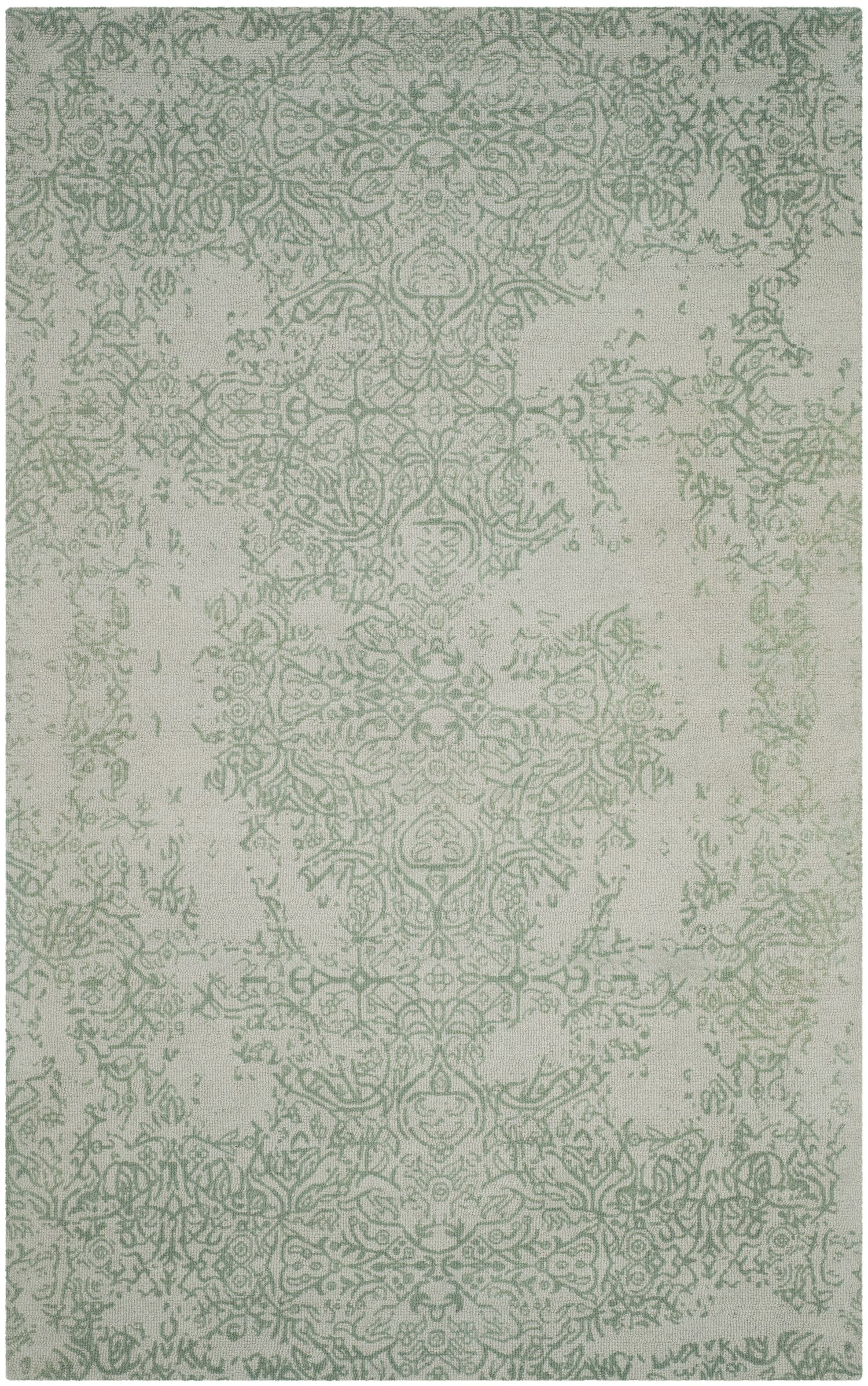 Ellicottville Hand-Tufted Gray/Turquoise Area Rug Rug Size: Rectangle 5' x 8'