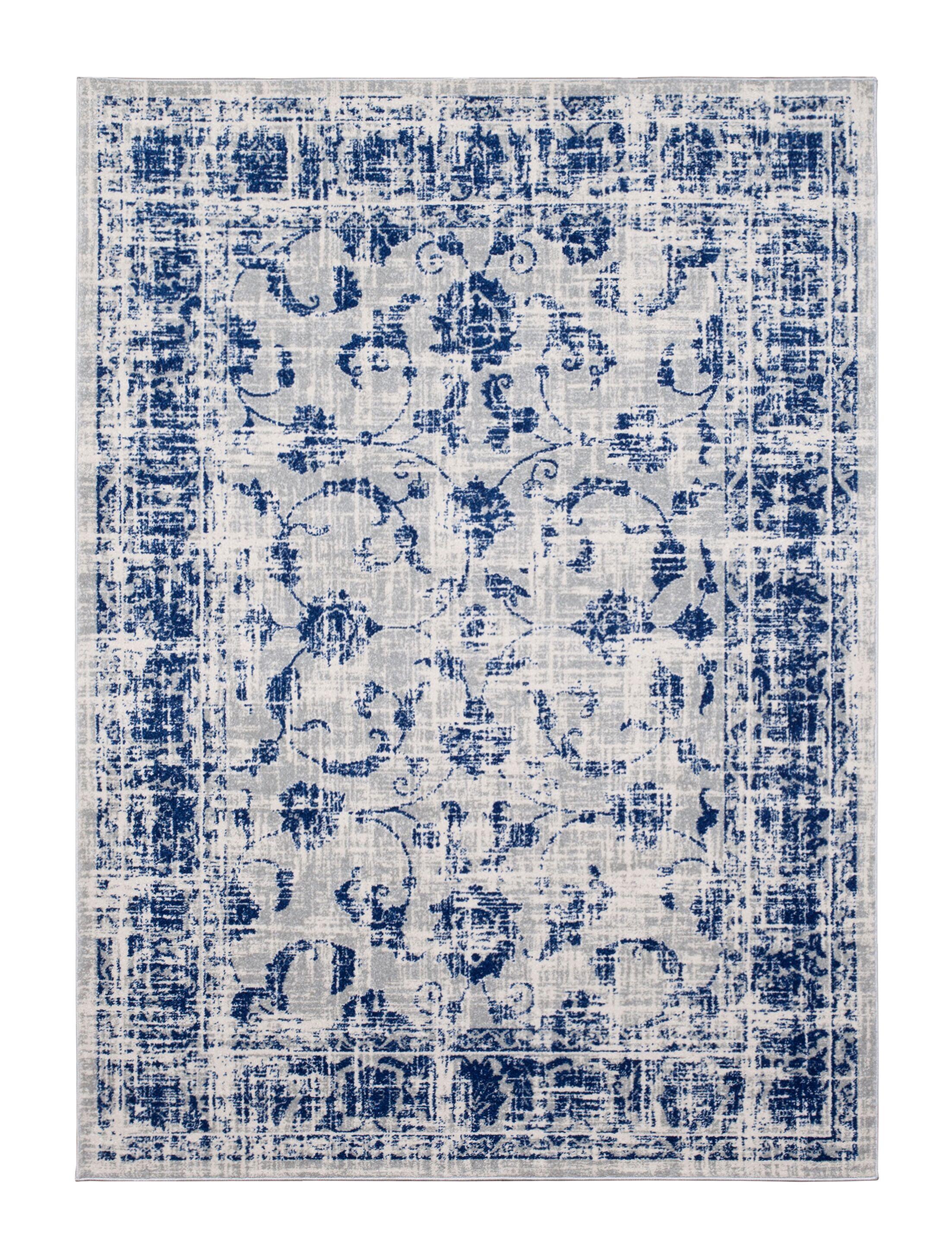 Emmalynn Gray/Blue Area Rug Rug Size: Rectangle 7'8