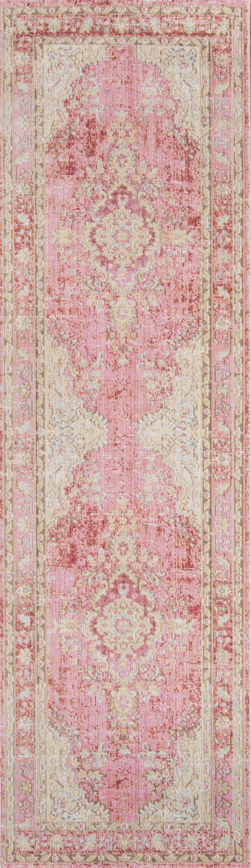 Sofian Pink Oriental Area Rug Rug Size: Runner 2'7
