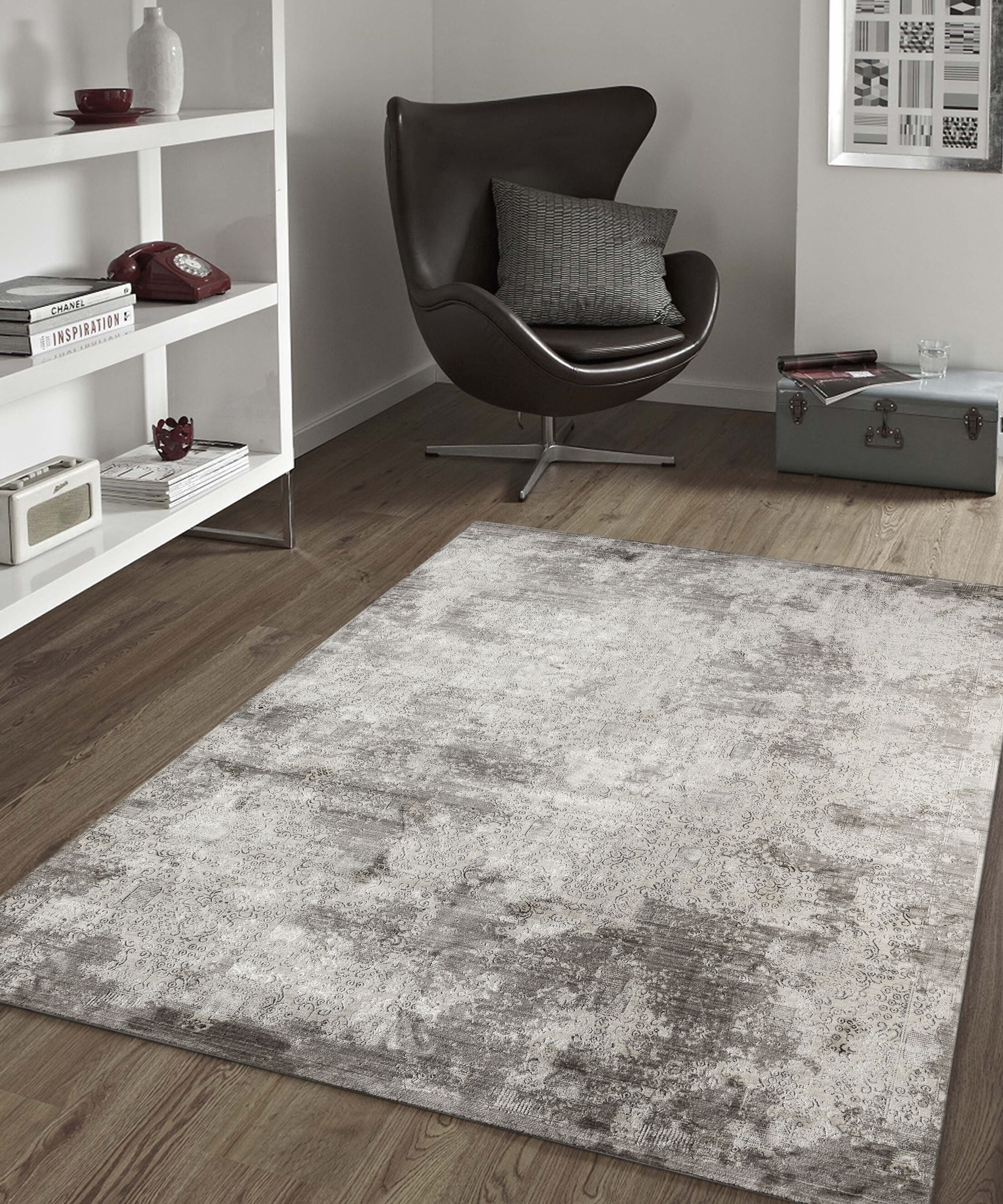 Cadence Transitional Gray Area Rug Rug Size: Rectangle 5' 3