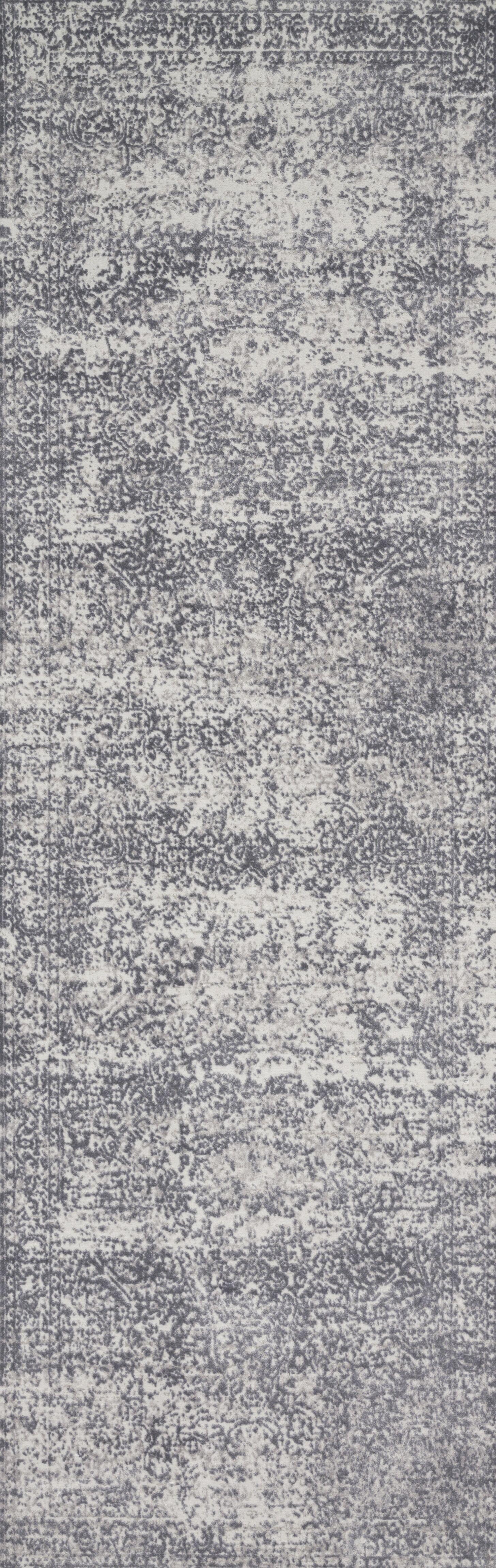 Jenson Silver/Light Gray Area Rug Rug Size: Runner 2'7