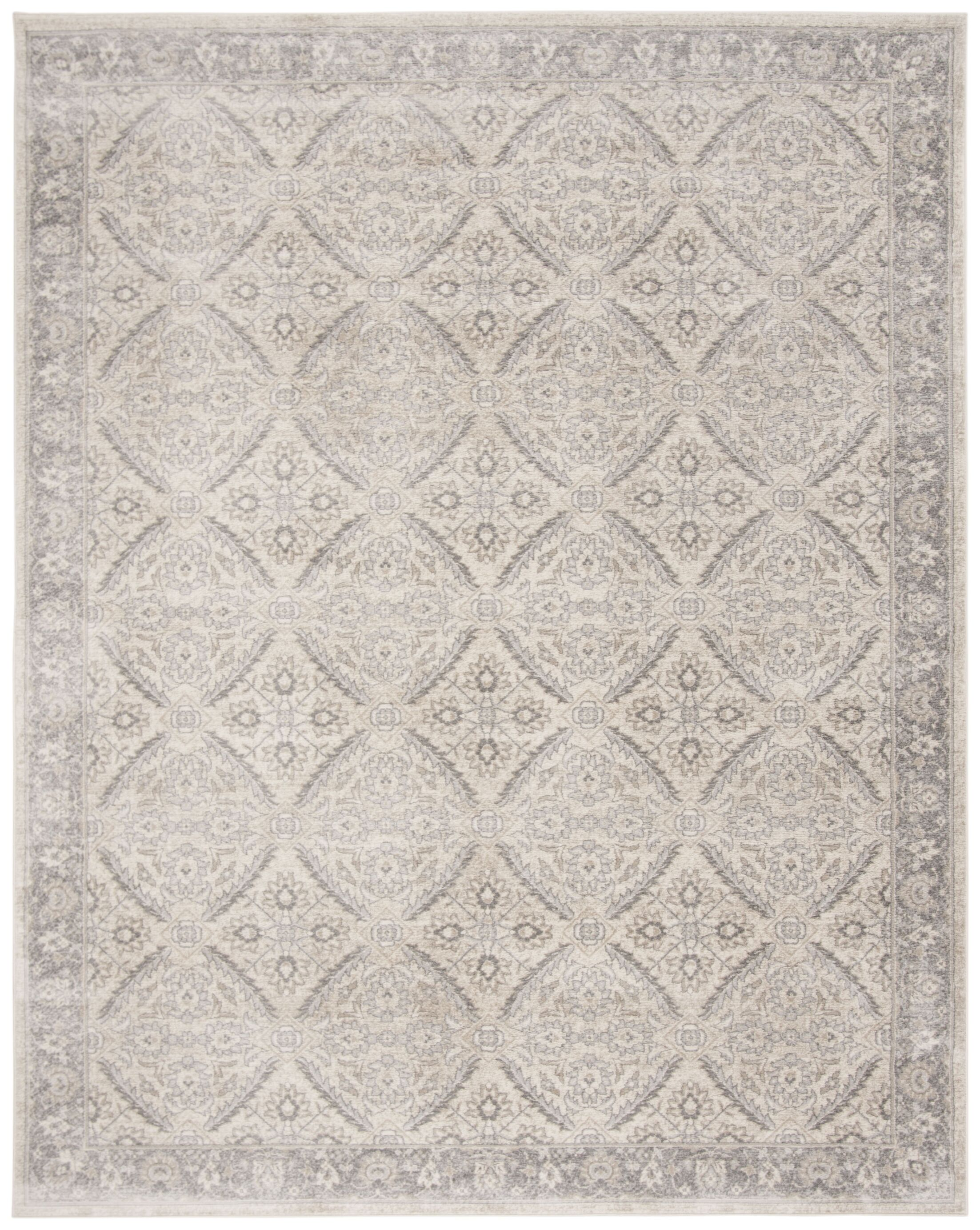 Lamartine Cream/Gray Area Rug Rug Size: Rectangle 8' x 10'