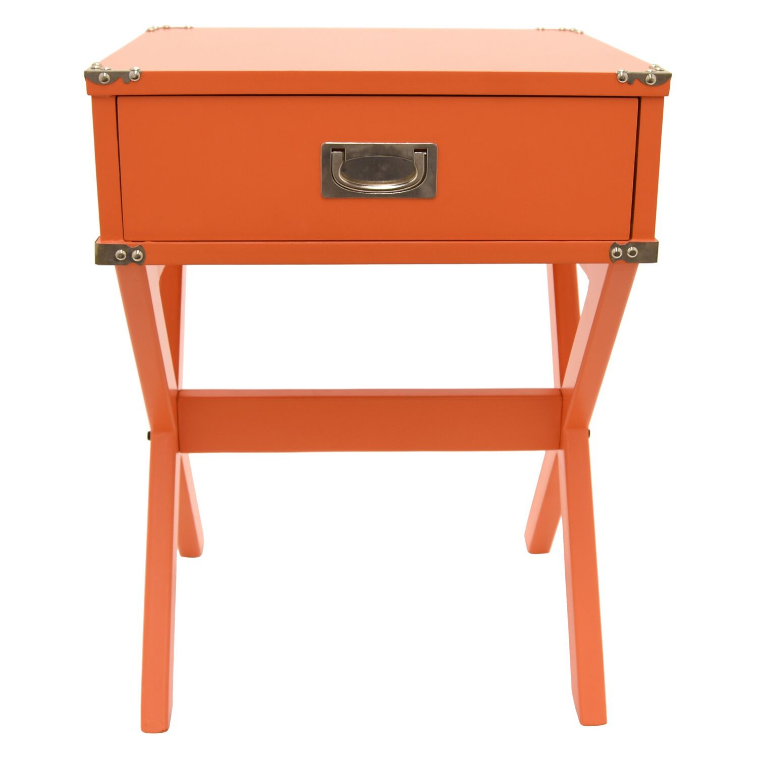 End Table with Storage Color: Orange