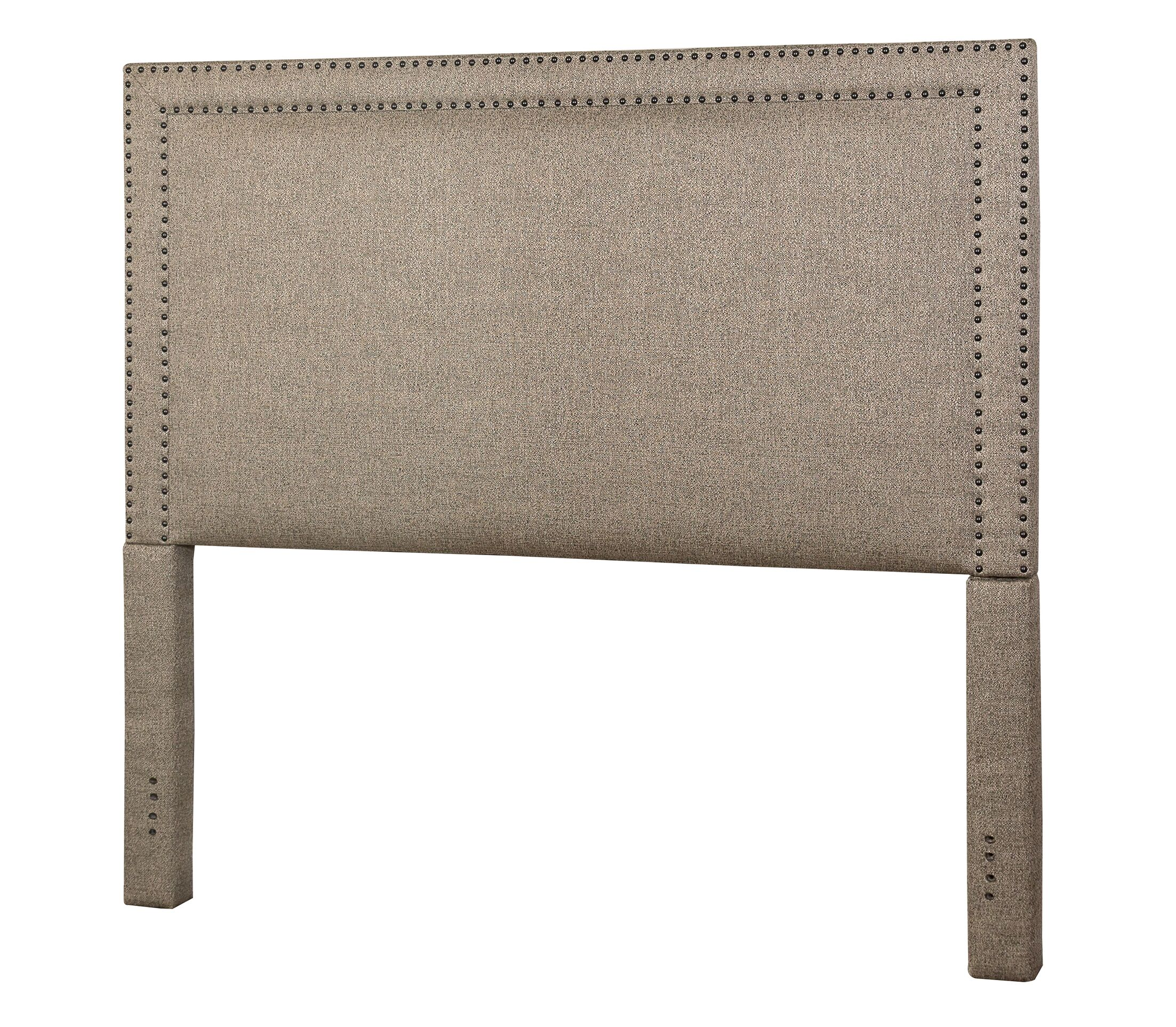 Hayley Upholstered Panel Bed Size: King, Color: Brown