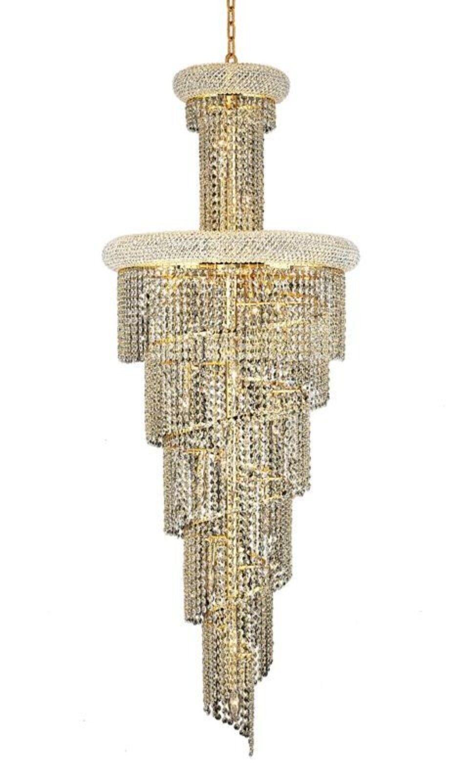 Mathilde 22-Light Crystal Chandelier Finish: Gold, Crystal Grade: Elegant Cut
