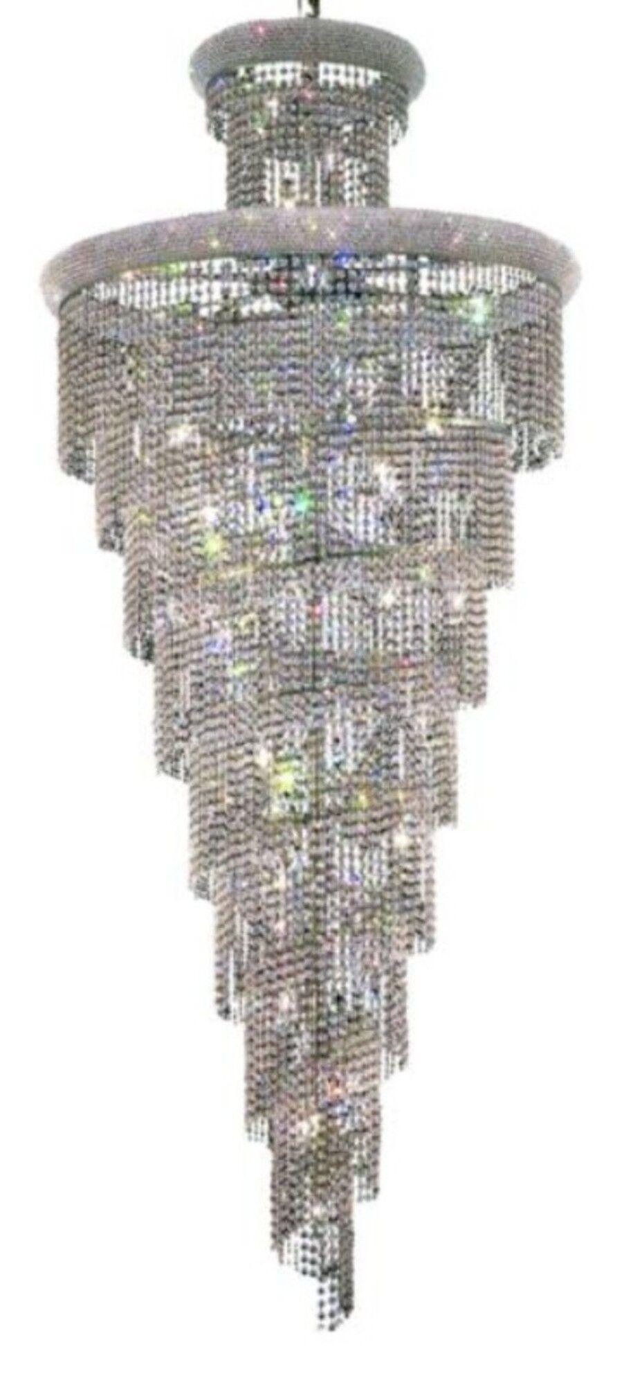 Mathilde 32-Light Crystal Chandelier Finish: Chrome, Crystal: Strass Swarovski