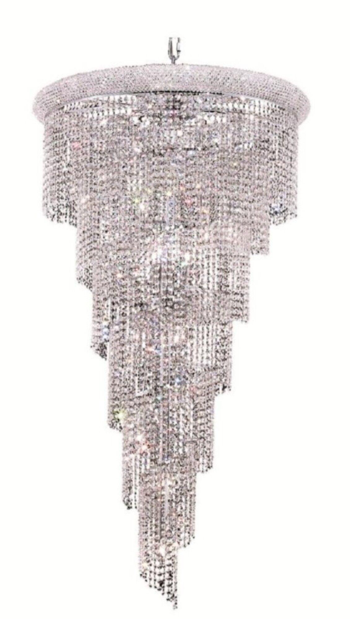 Mathilde 22-Light Crystal Chandelier Finish: Chrome, Crystal Grade: Elegant Cut