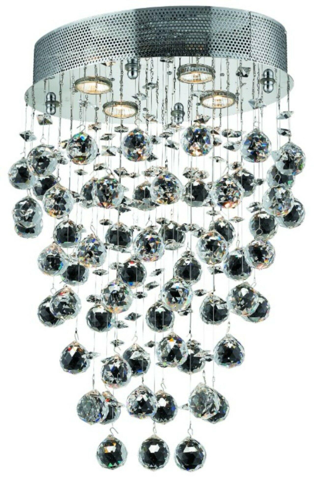 Deidamia 4-Light Flush Mount Crystal Grade: Strass Swarovski