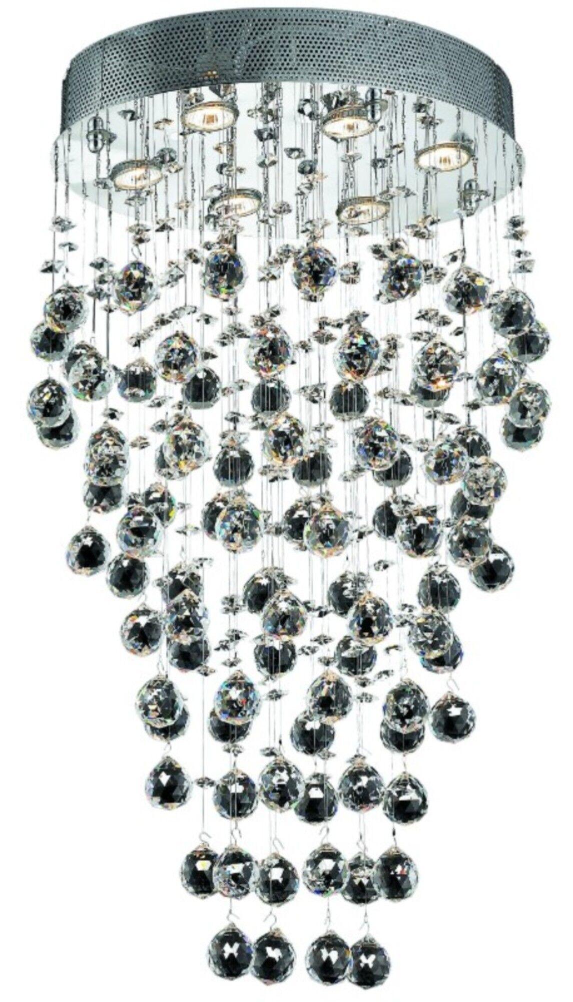 Deidamia 6-Light Flush Mount Crystal Grade: Royal Cut