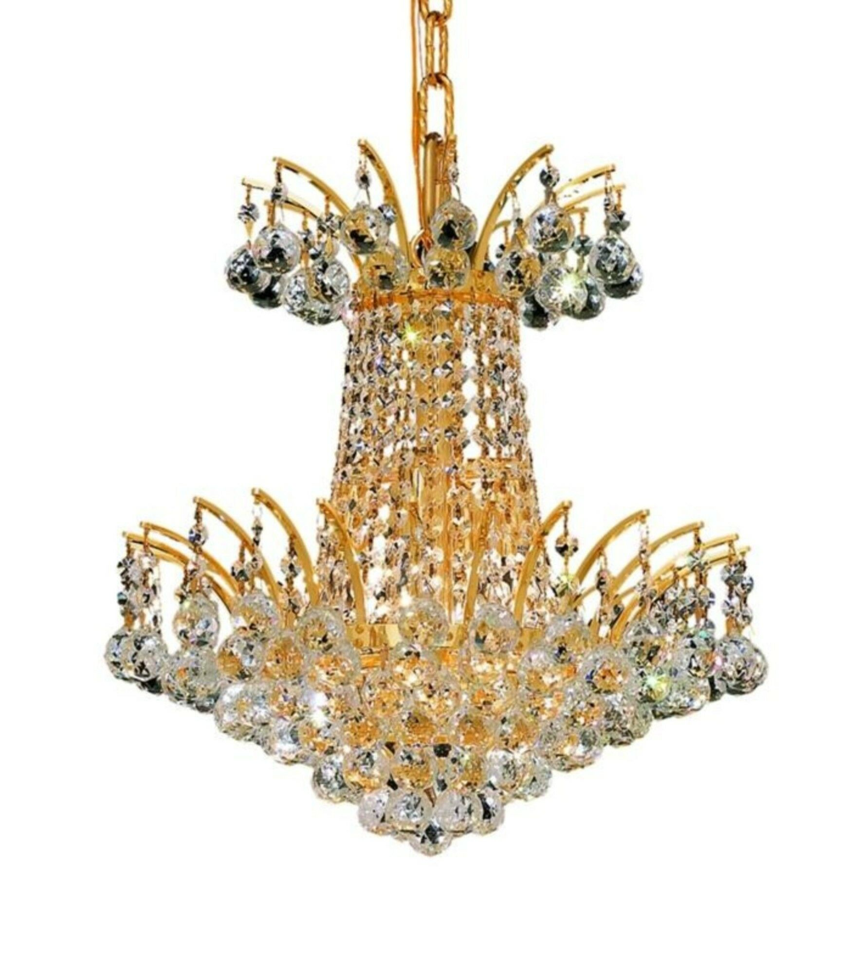 Phyllida 4-Light Empire Chandelier Finish: Gold, Crystal: Elegant Cut