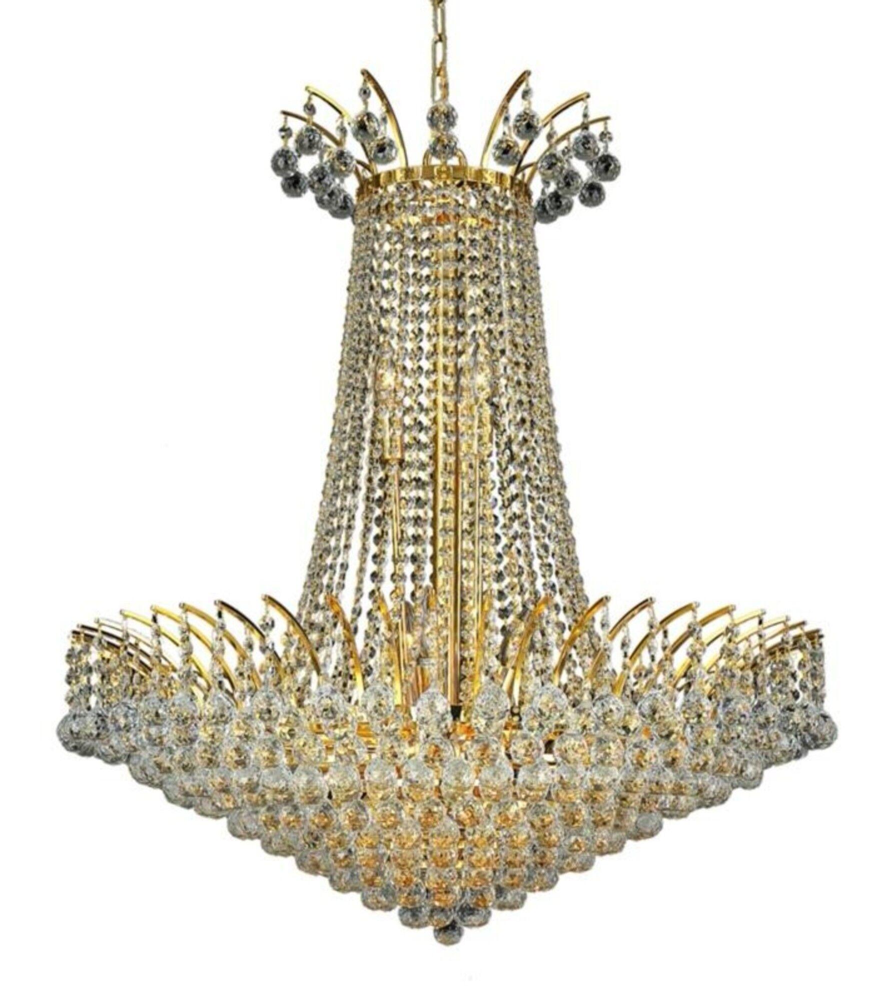 Phyllida 16-Light Empire Chandelier Finish: Gold, Crystal: Strass Swarovski