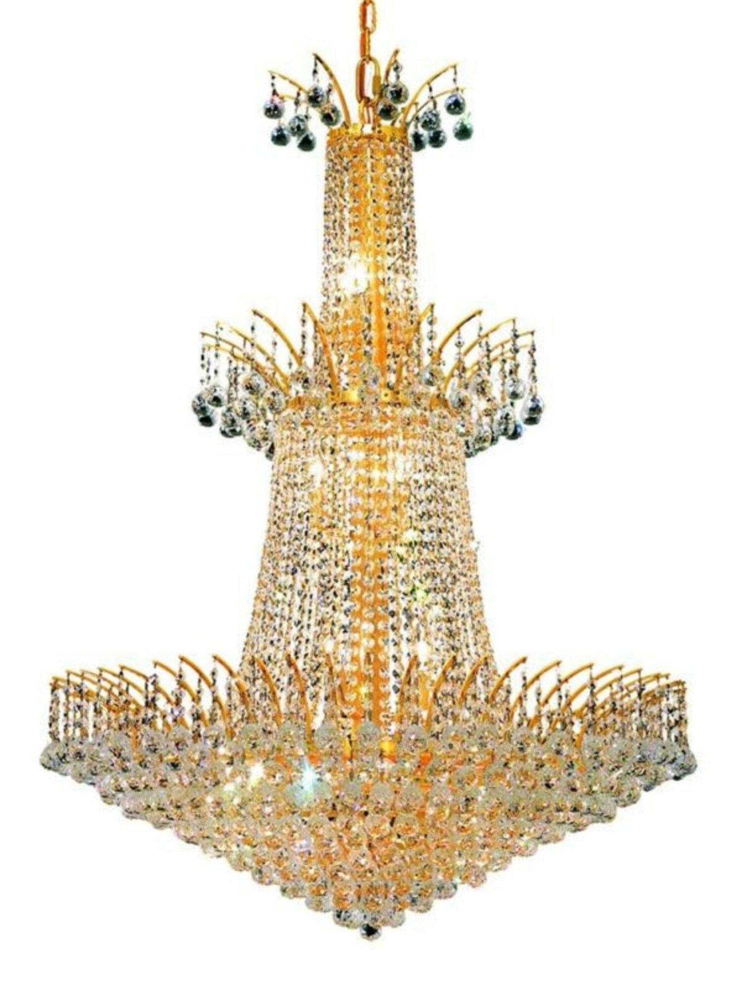 Phyllida 18-Light Crystal Chandelier Finish: Gold, Crystal: Spectra Swarovski