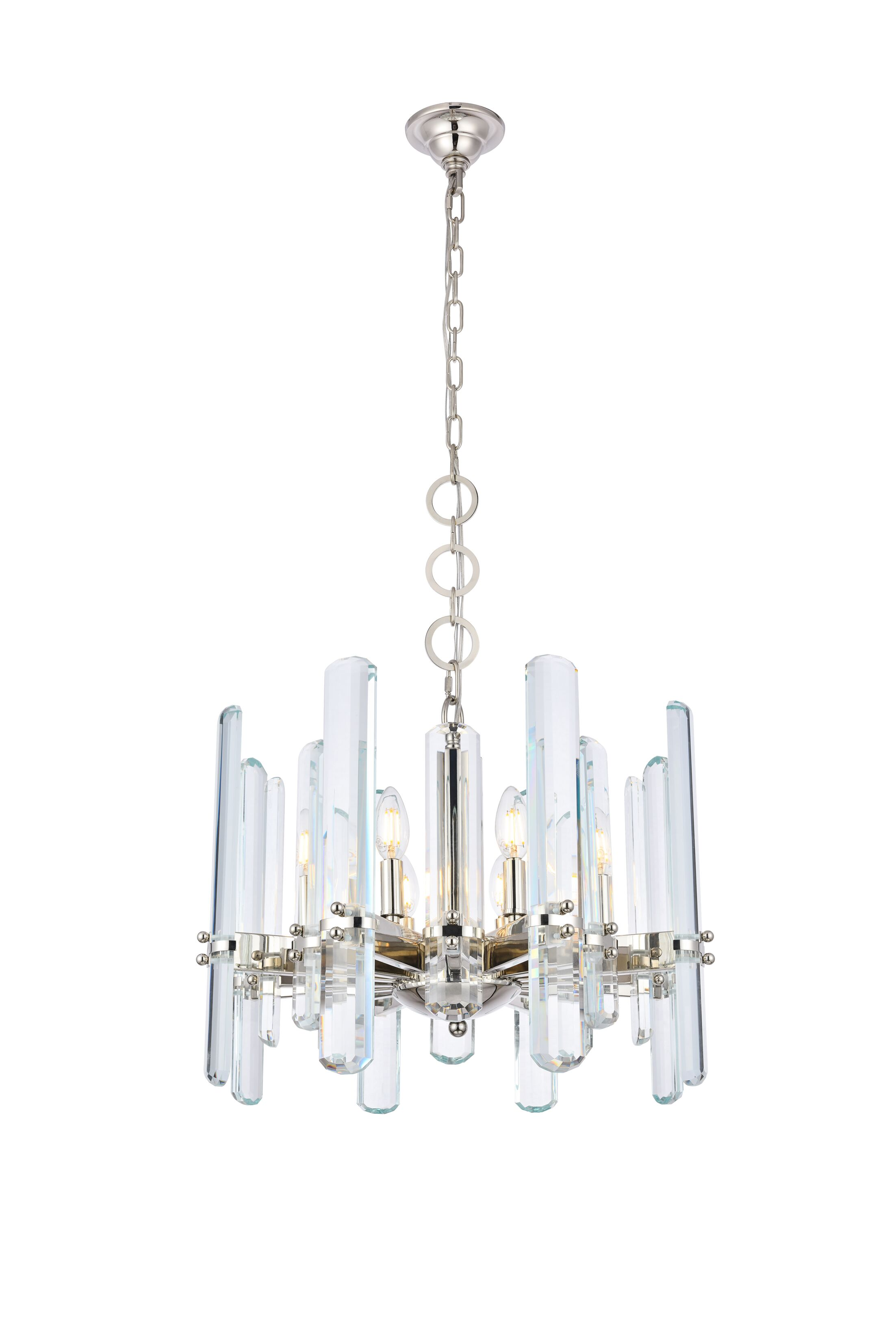 Raelene 8-Light Chandelier Finish: Polished Nickel