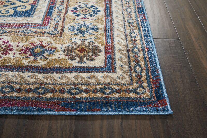 Landen Blue Area Rug Rug Size: Rectangle 5'3