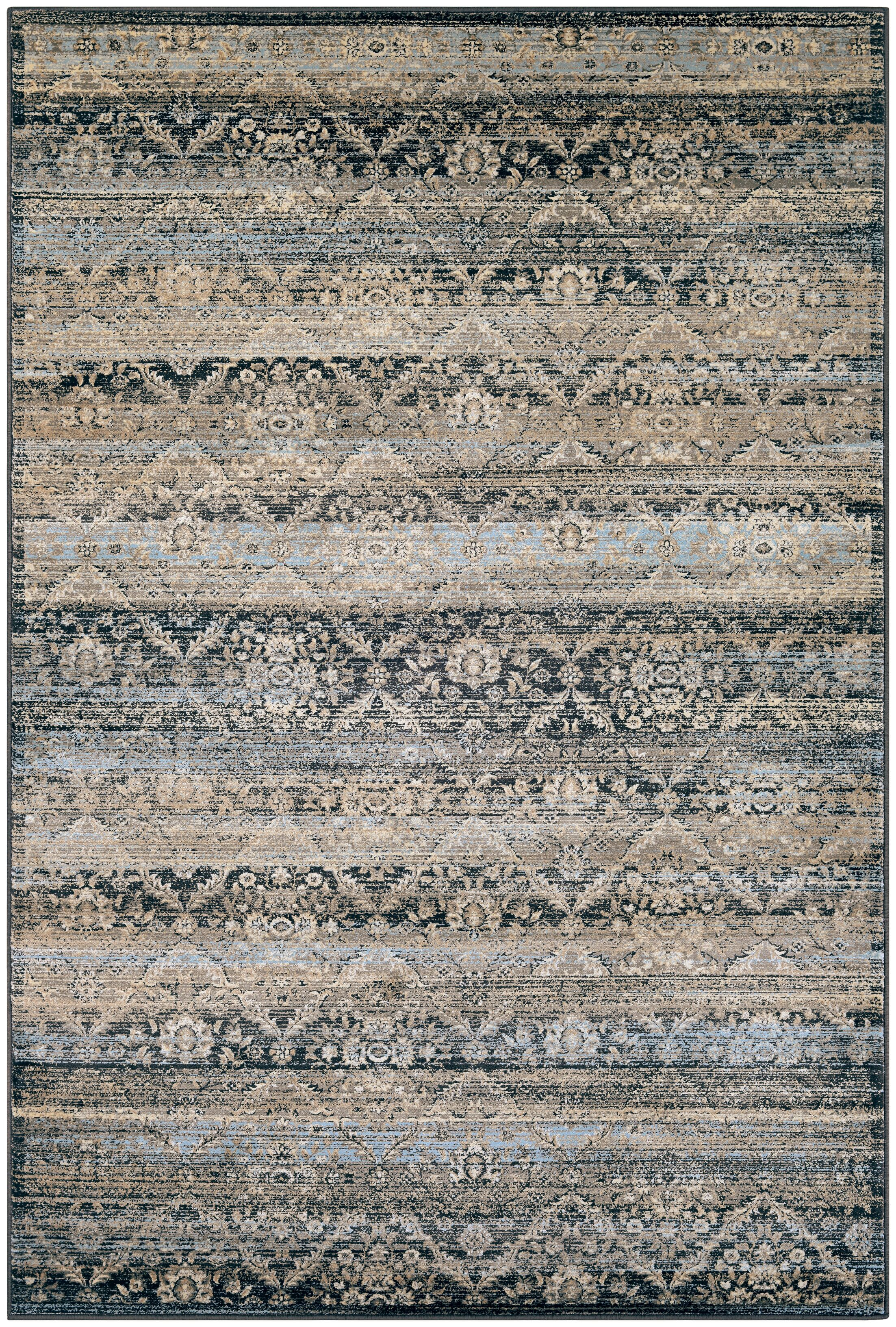 Saramarie Black/Brown Area Rug Rug Size: Rectangle 2' x 3'7