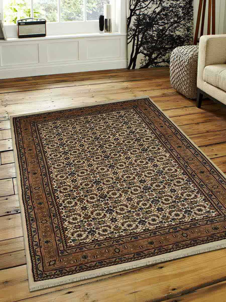 Marathon Hand-Woven Wool Cream Area Rug Rug Size: Rectangle 8' x 11'