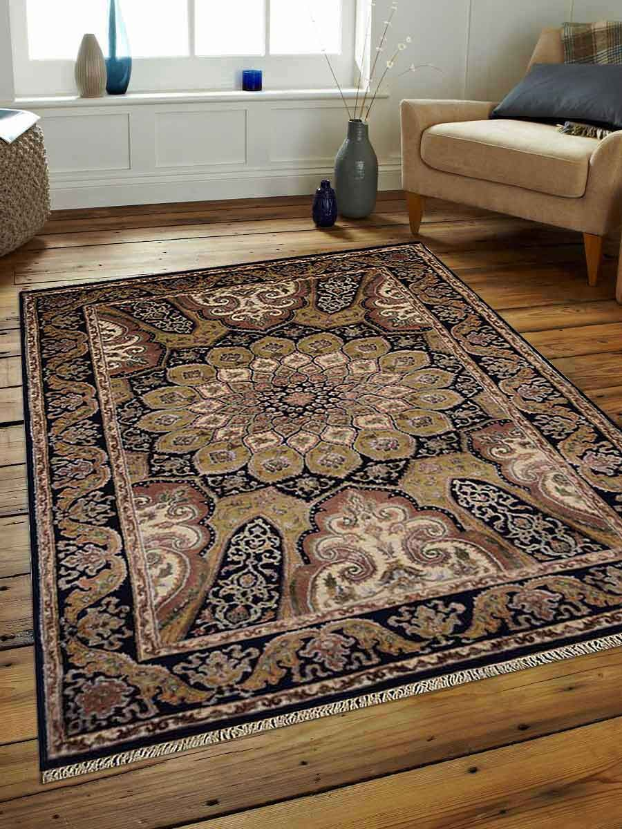 Marathon Hand-Woven Wool Blue Area Rug Rug Size: Rectangle 8' x 11'3