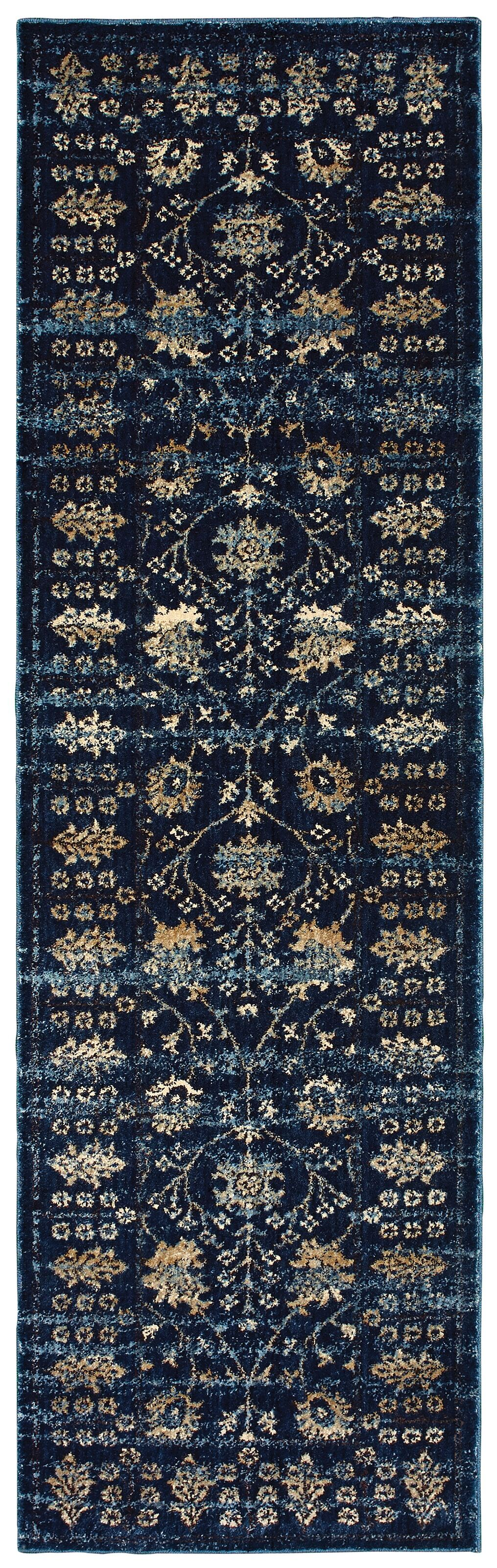 Quenby Navy/Ivory Area Rug Rug Size: Runner 2'3