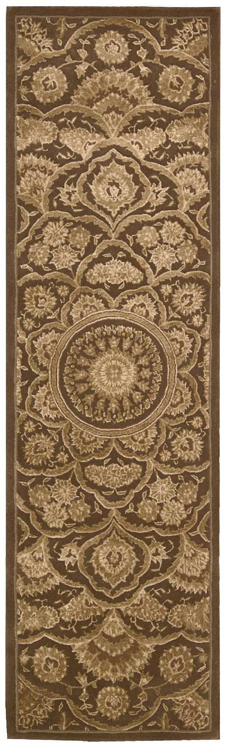 Riggs Hand-Woven Chocolate Area Rug Rug Size: Runner 2'3