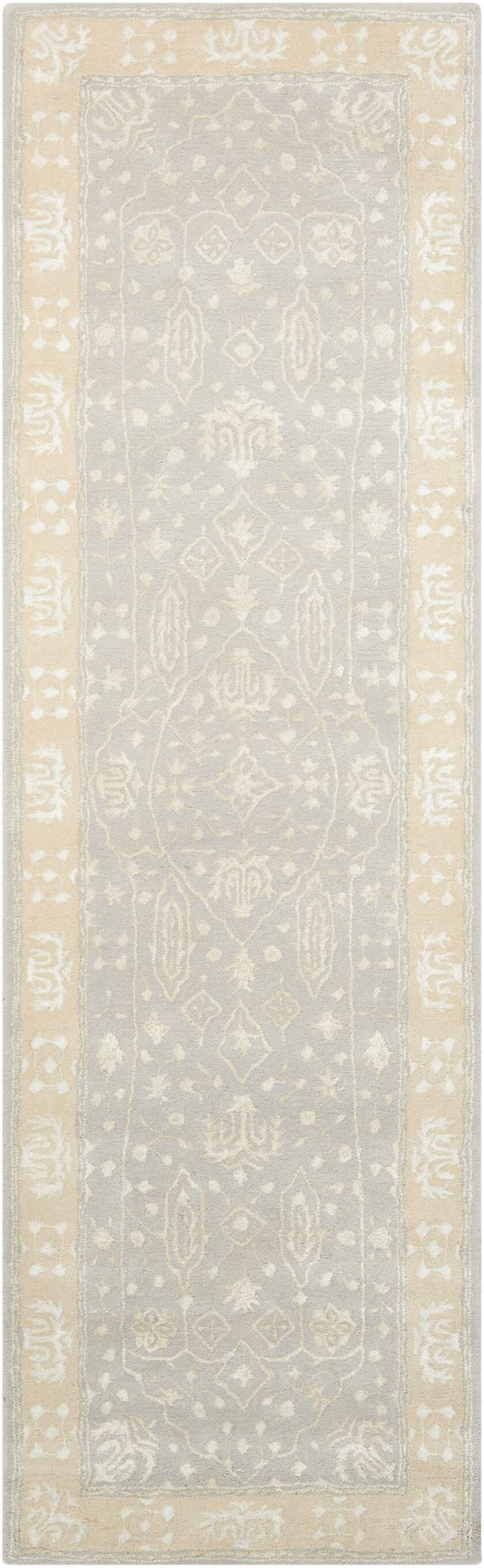 Veda Hand-Tufted Blue Mist Area Rug Rug Size: Runner 2'3