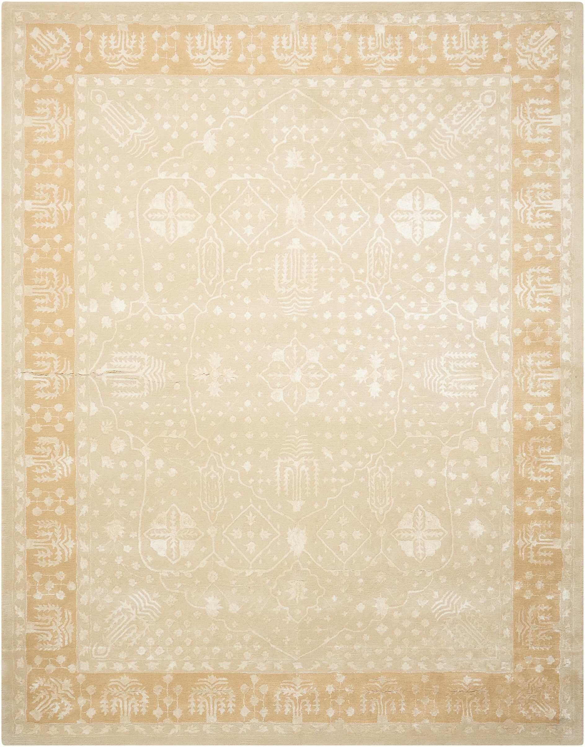 Veda Hand-Tufted Gold Oak Area Rug Rug Size: Rectangle 7'6