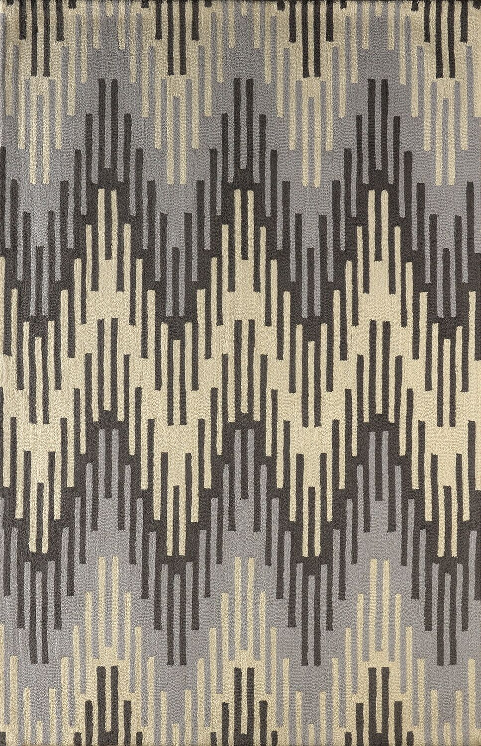 Flanary Hand-Tufted Wool Frost Gray/Ivory Area Rug Rug Size: Rectangle 4' x 6'