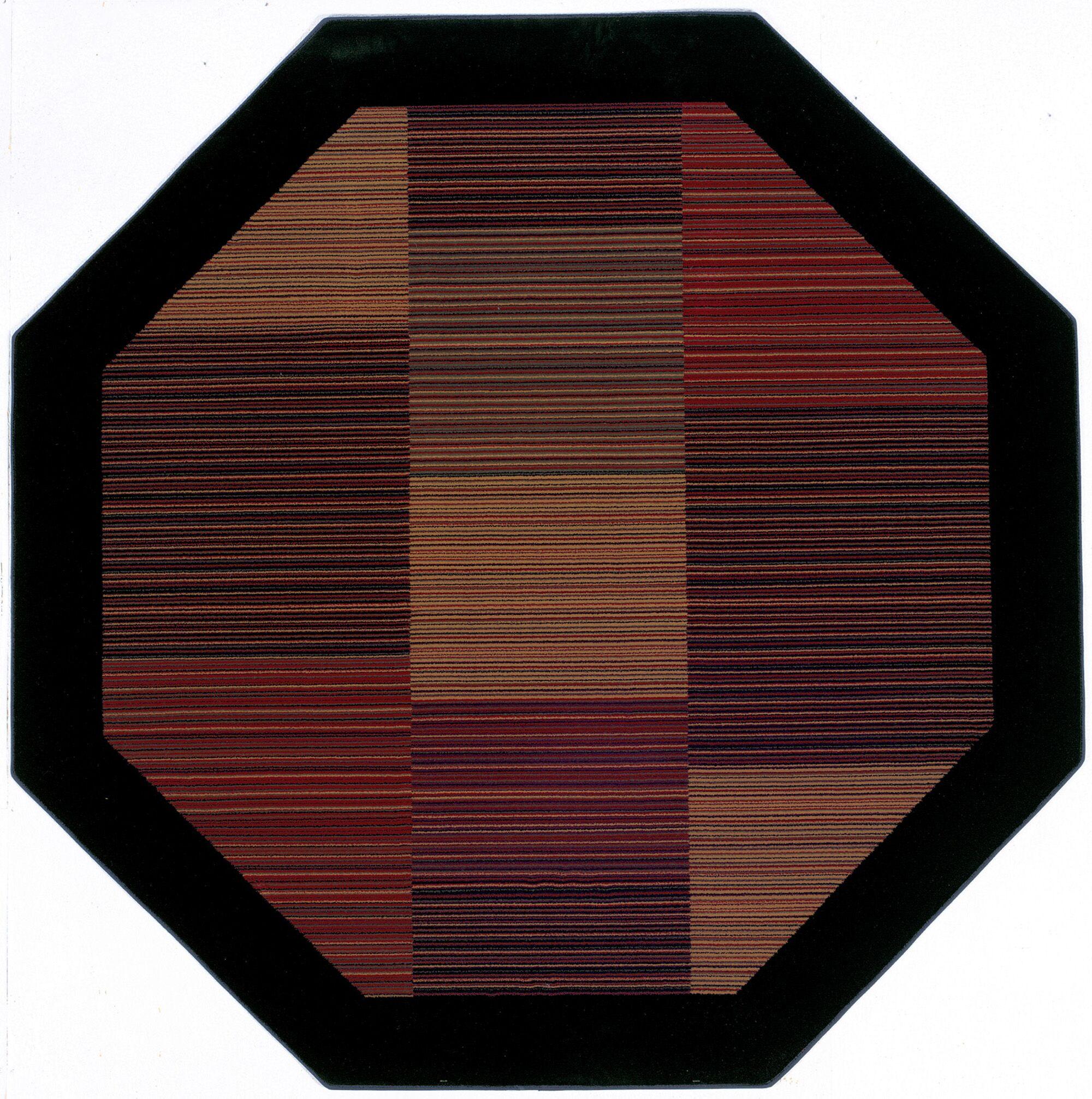 Judlaph Black/Brown Area Rug Rug Size: Octagon 5'3