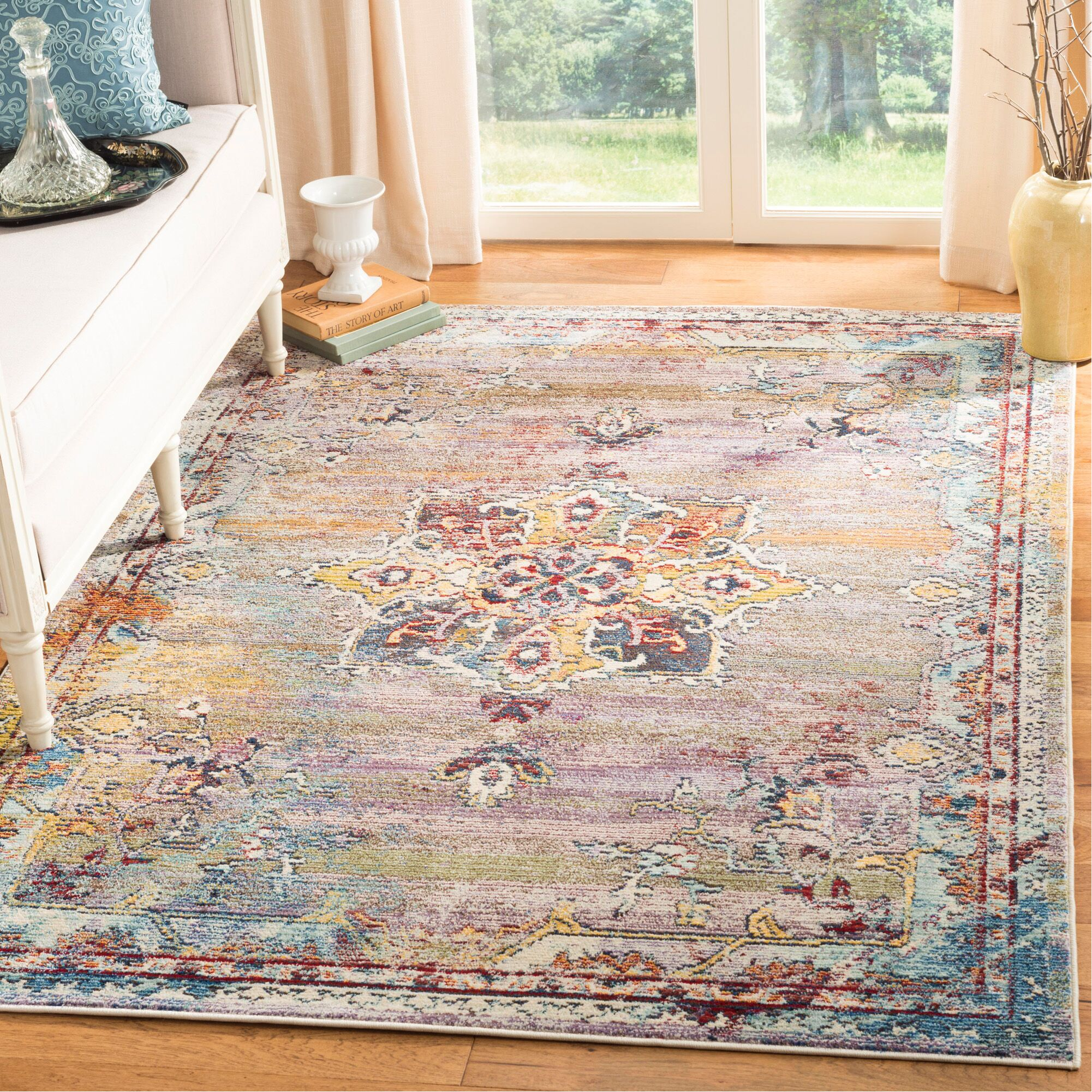 Mcintosh Boho Blue/Purple Area Rug  Rug Size: Rectangle 9' x 12'