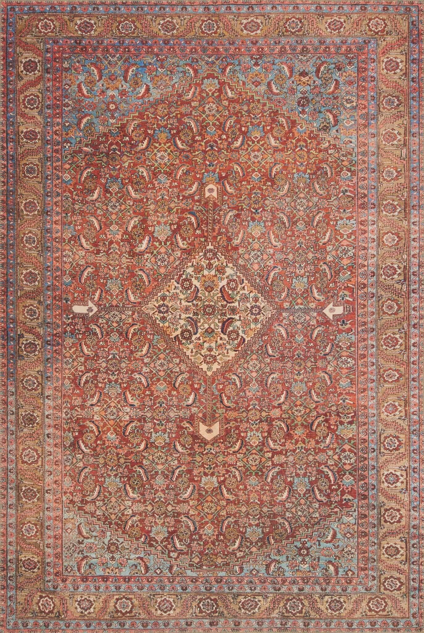 Raul Red Area Rug Rug Size: Runner 2'6