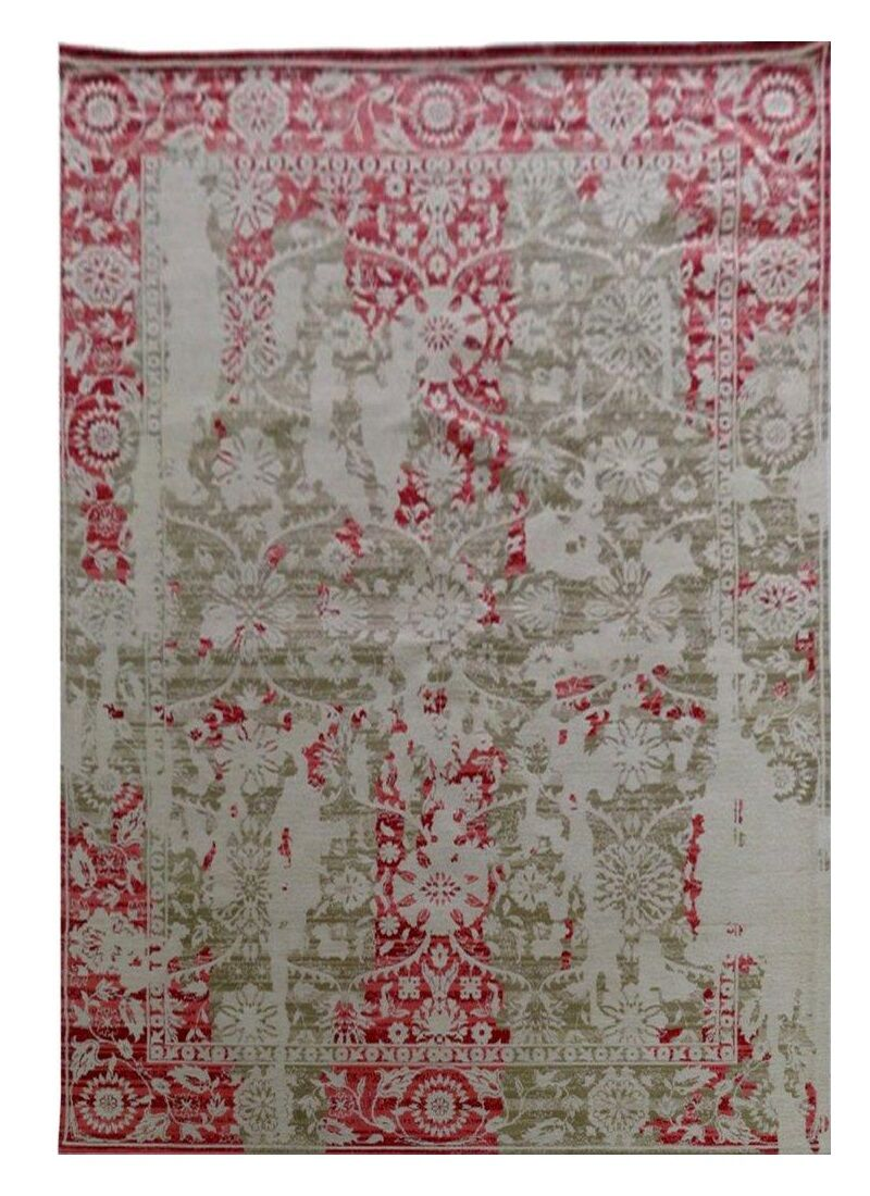 Nassau Street Red/Gray Area Rug Rug Size: Rectangle 5'25